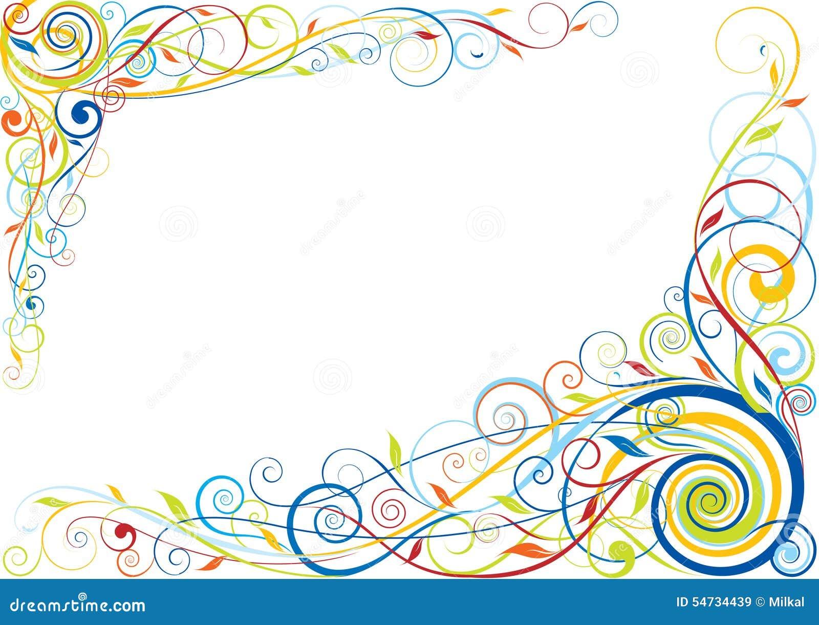 漩涡花卉颜色设计
