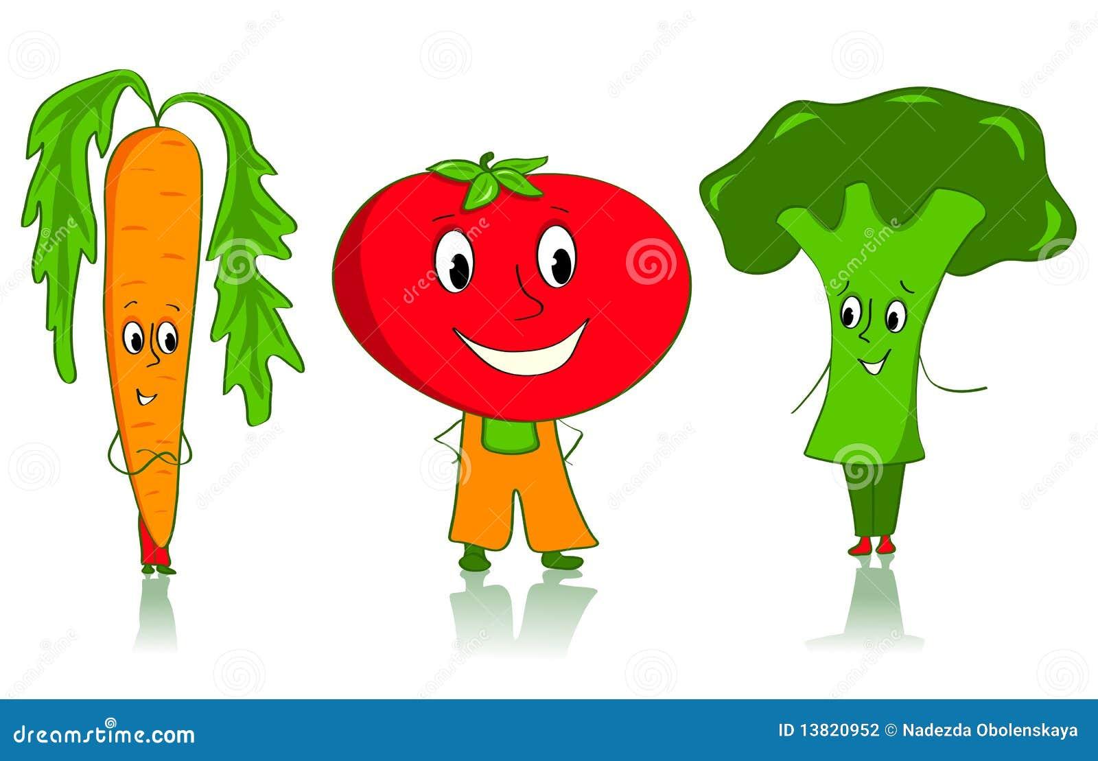 漫画人物蔬菜图片