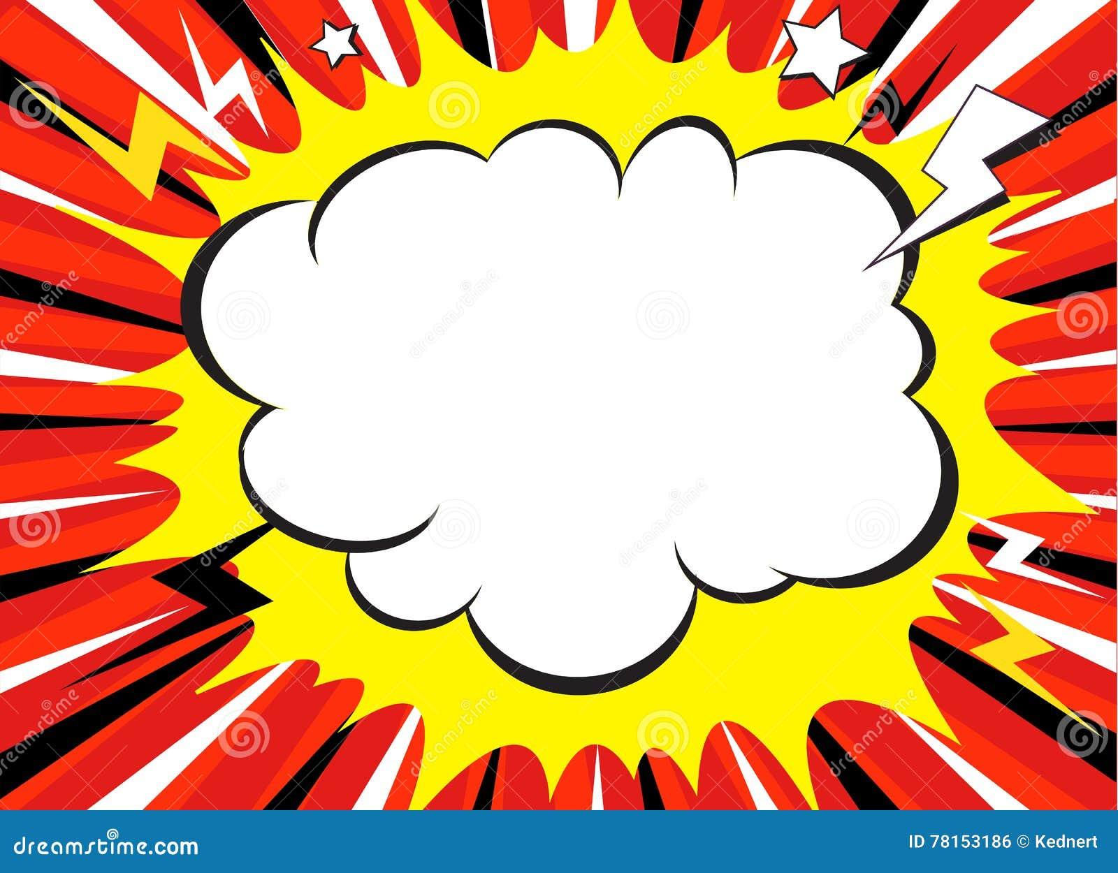 漫画书爆炸超级英雄流行艺术样式辐形排行背景 Manga或芳香树脂速度框架