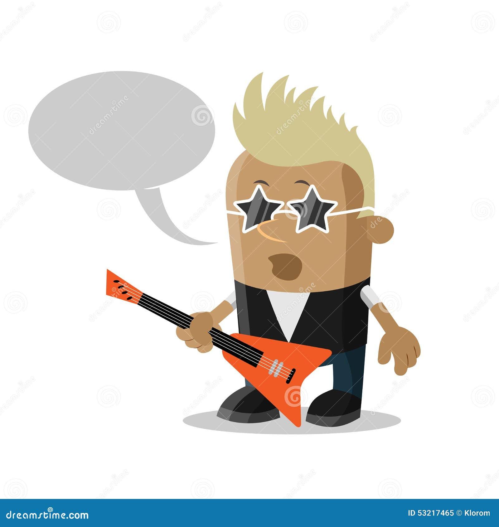 漫画人物摇滚明星,传染媒介例证.图片