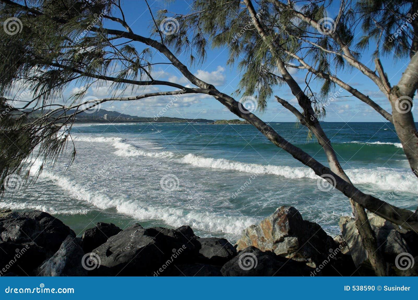 Download 澳大利亚海滩 库存照片. 图片 包括有 节假日, 本质, 结构树, 海洋, 美丽如画, 云彩, 海运, 岩石 - 538590