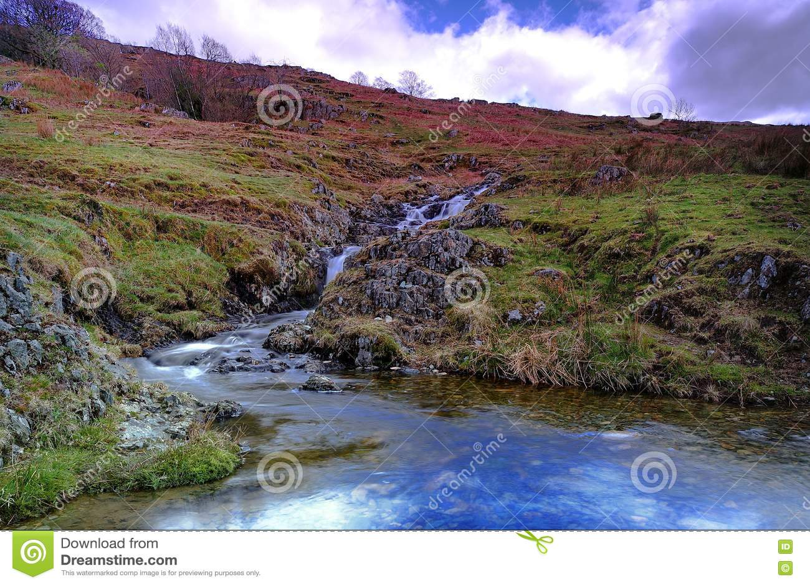 瀑布和小河