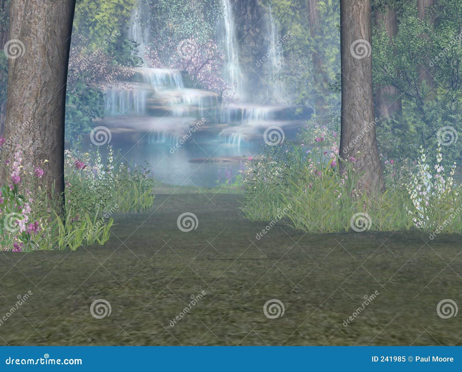 瀑布森林地