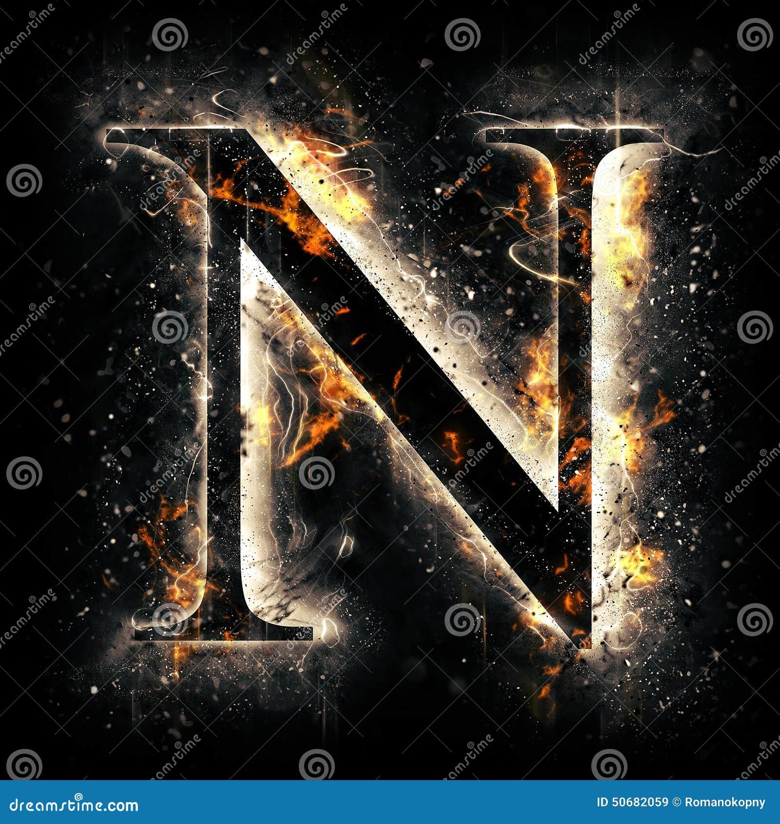 Download 火字母N 库存例证. 插画 包括有 谷物, 火热, 火焰, 纹理, 易燃, 漂白, 烧伤, 红色, 背包 - 50682059
