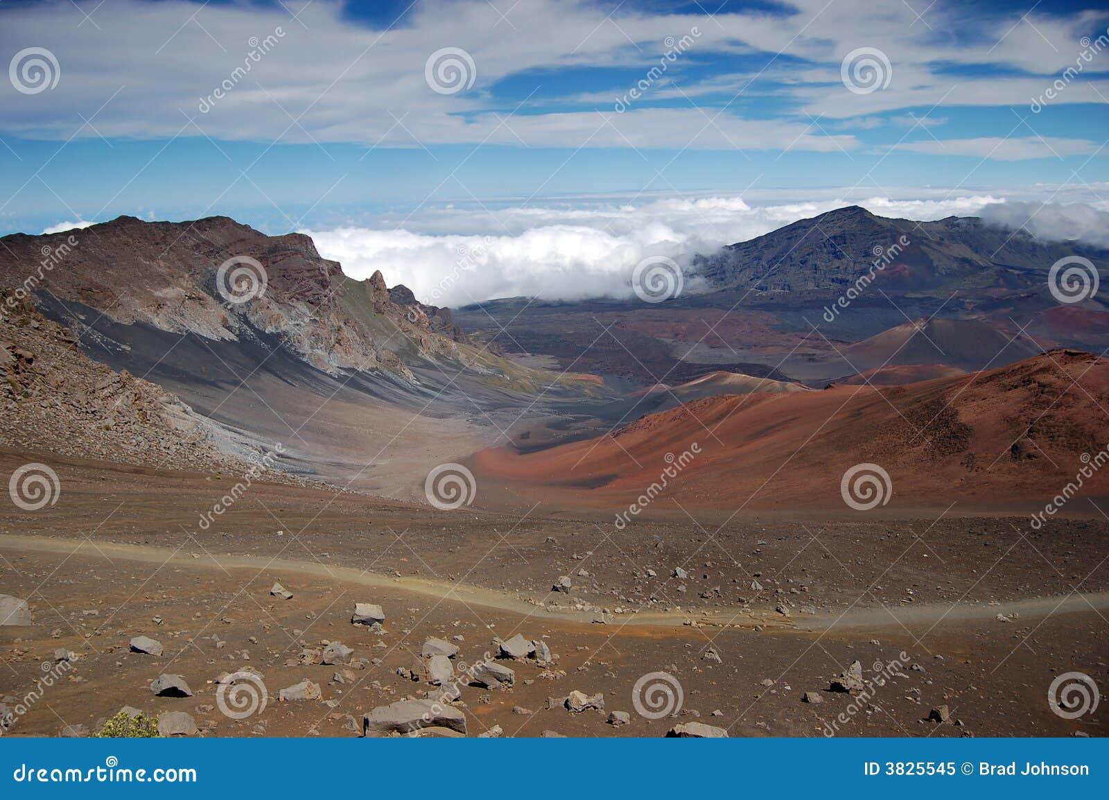 火山口haleakala火山