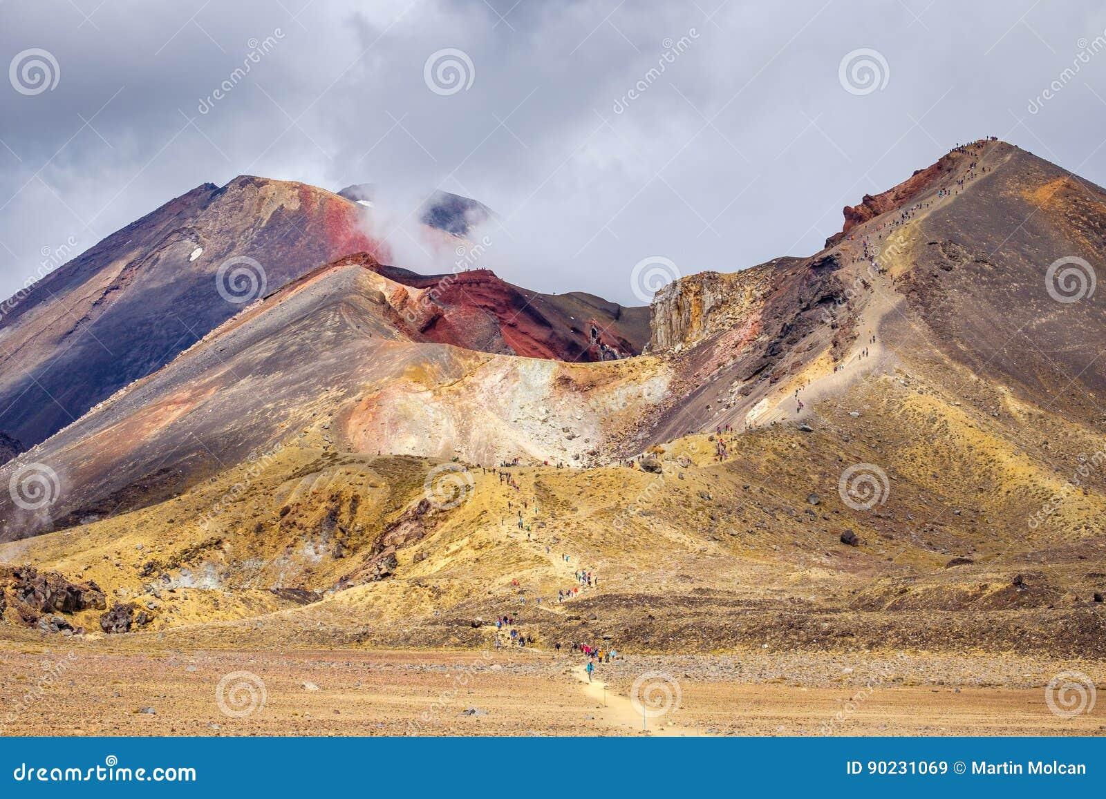 火山的风景和火山火山口,东格里罗国家公园