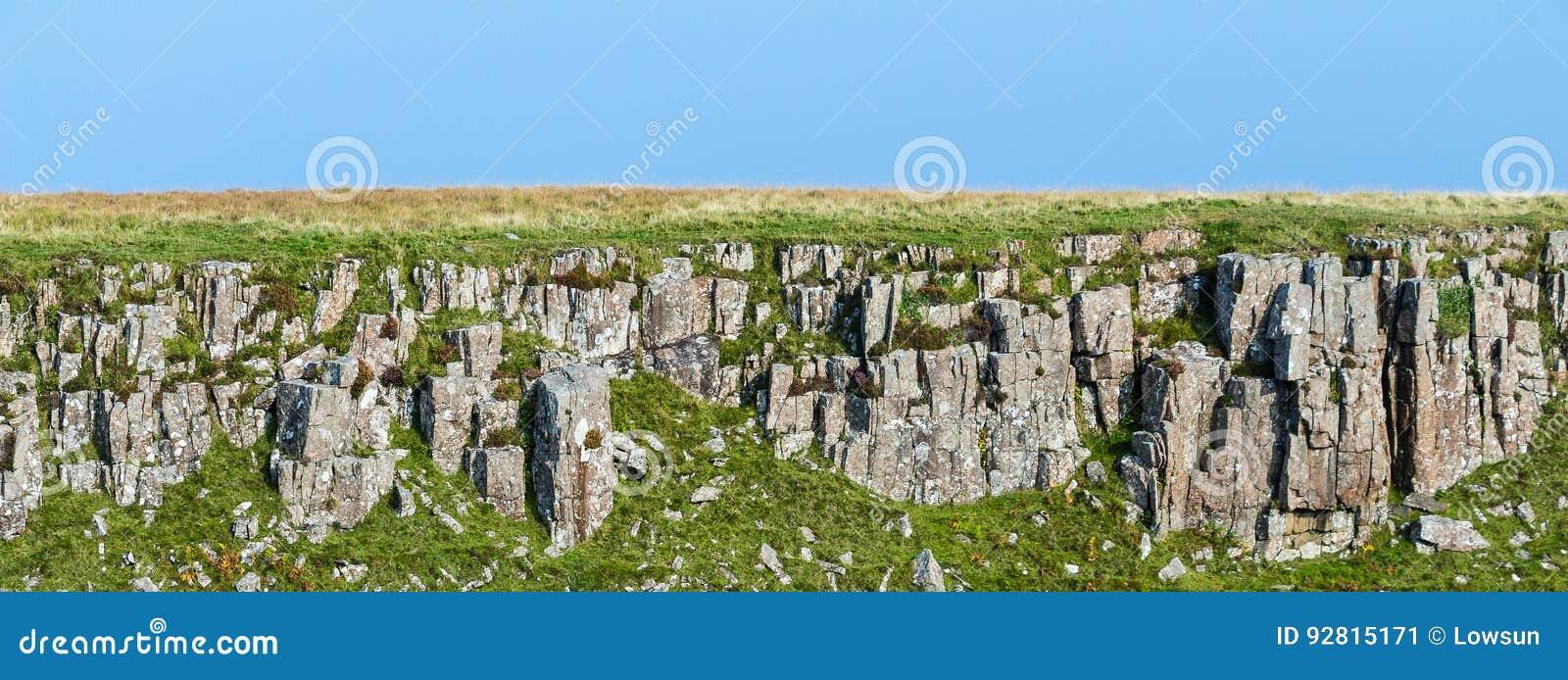 火成岩层数在斯凯岛,苏格兰小岛的