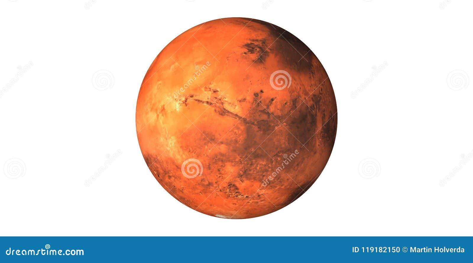 火星从空间看见的红色行星