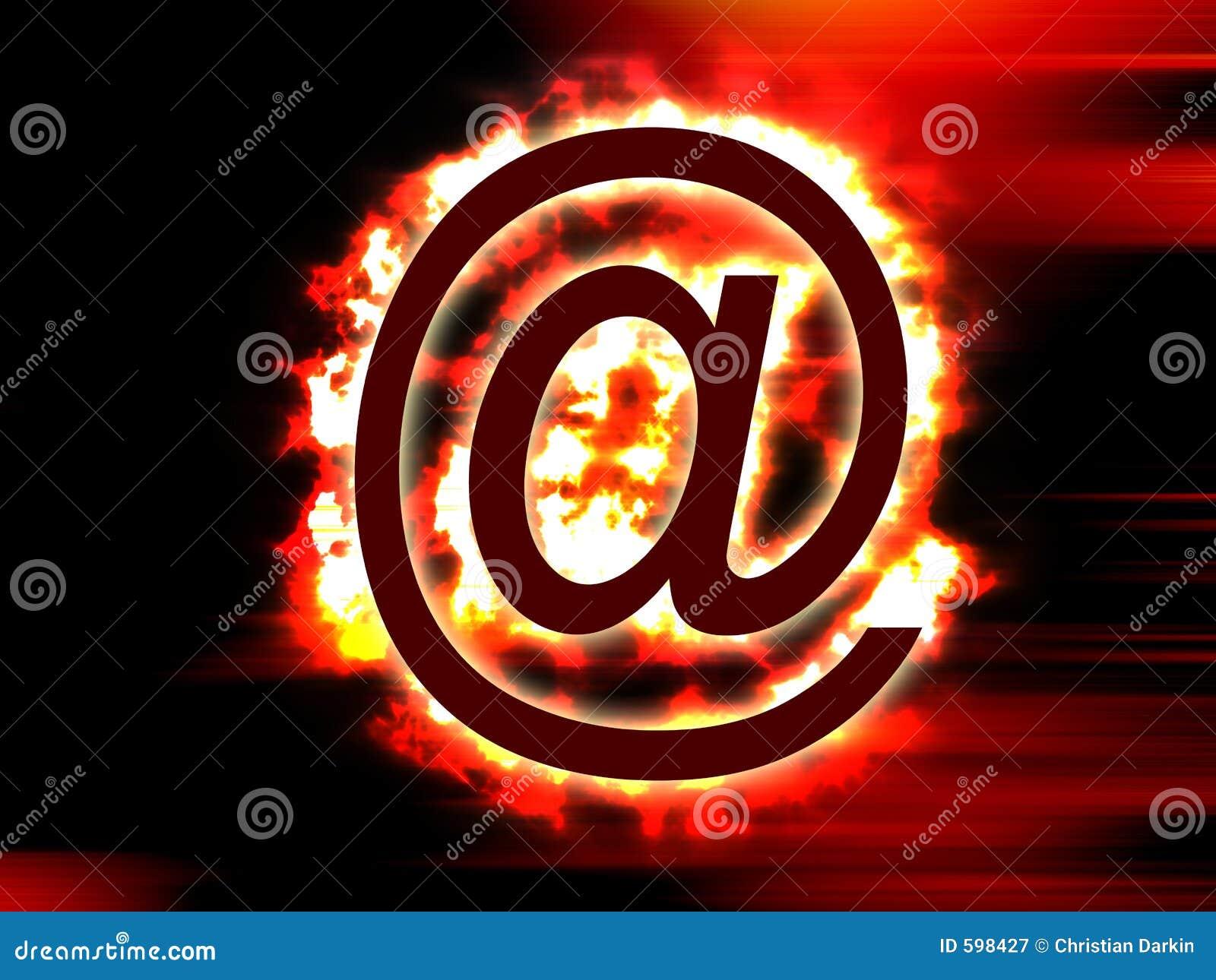 火焰状邮件