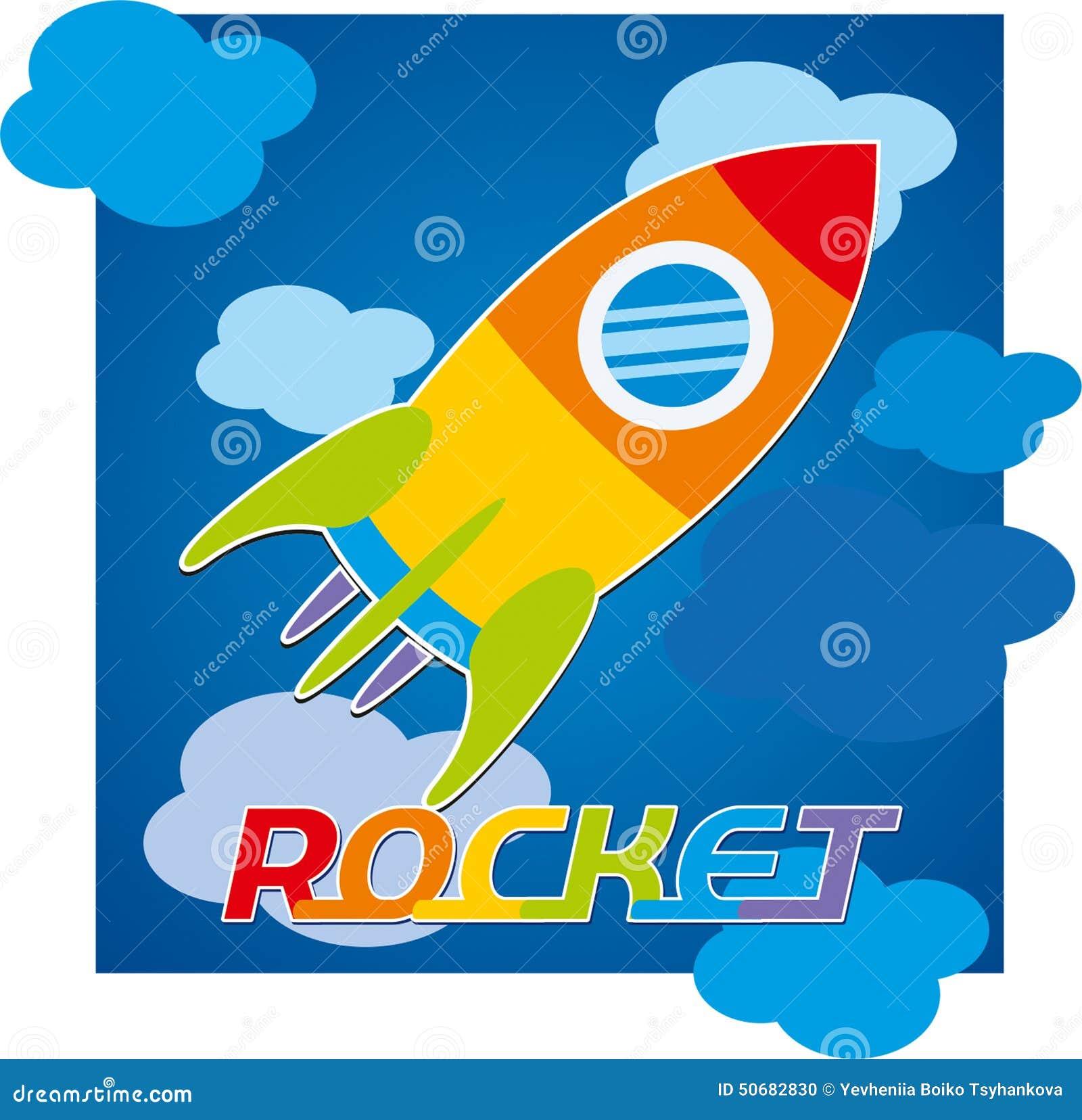 Download 火箭队天空玩具戏弄蓝色颜色 库存例证. 插画 包括有 火箭, 黄色, 图象, 橙色, 玩具, 颜色, 天空 - 50682830