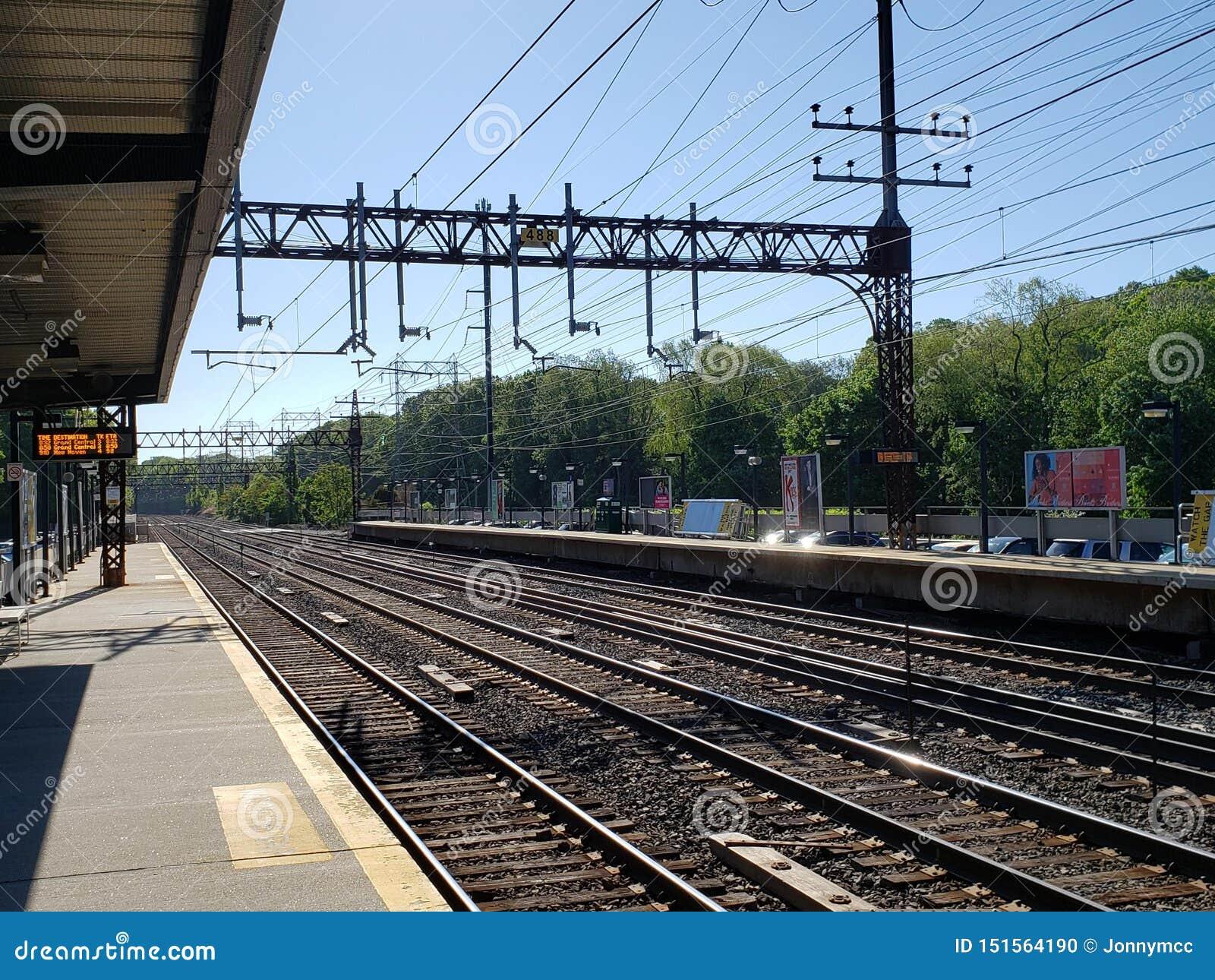 火车站在Rowayton,CT