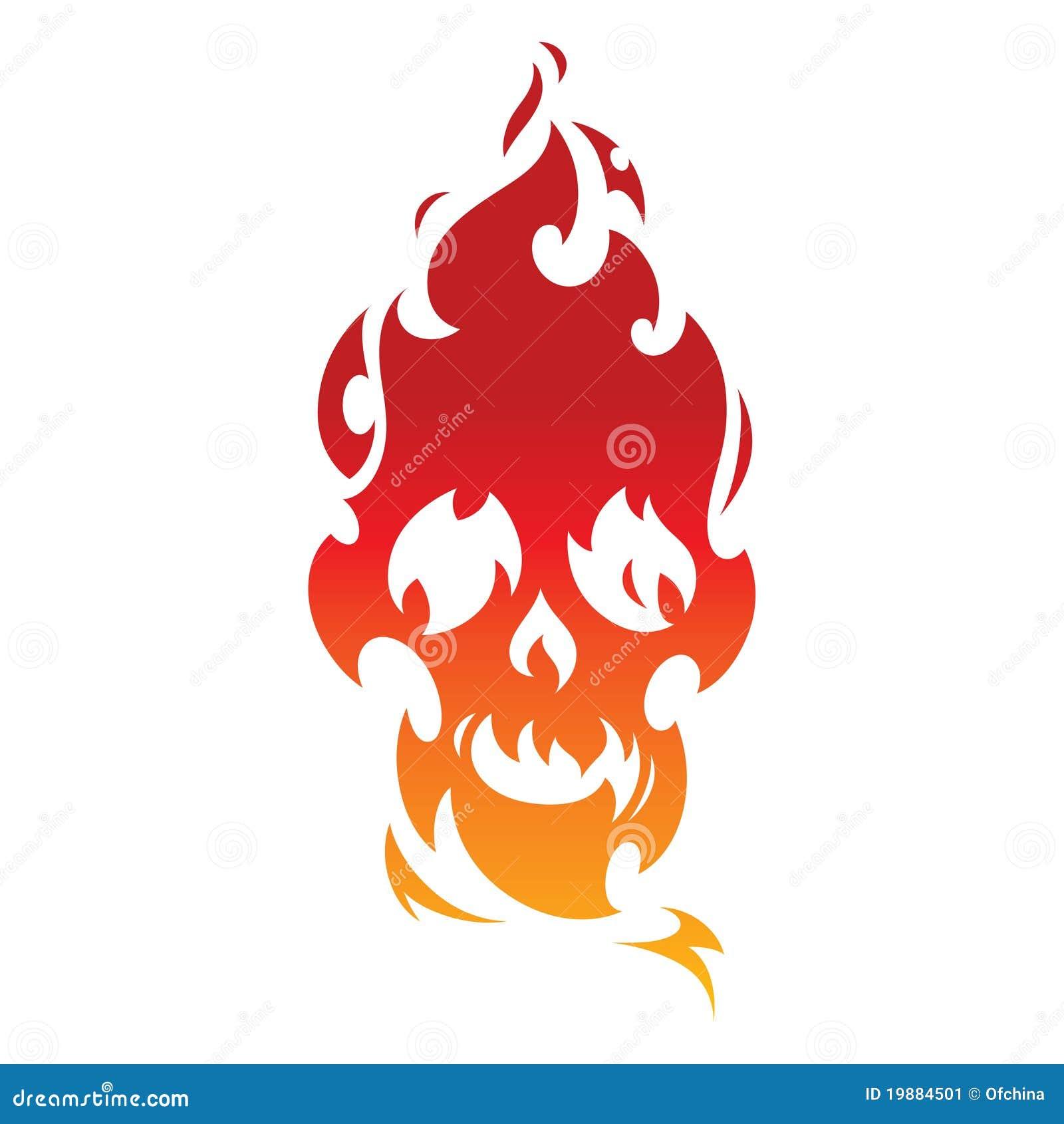 抽象灼烧的装饰火火焰热头骨纹身花刺.
