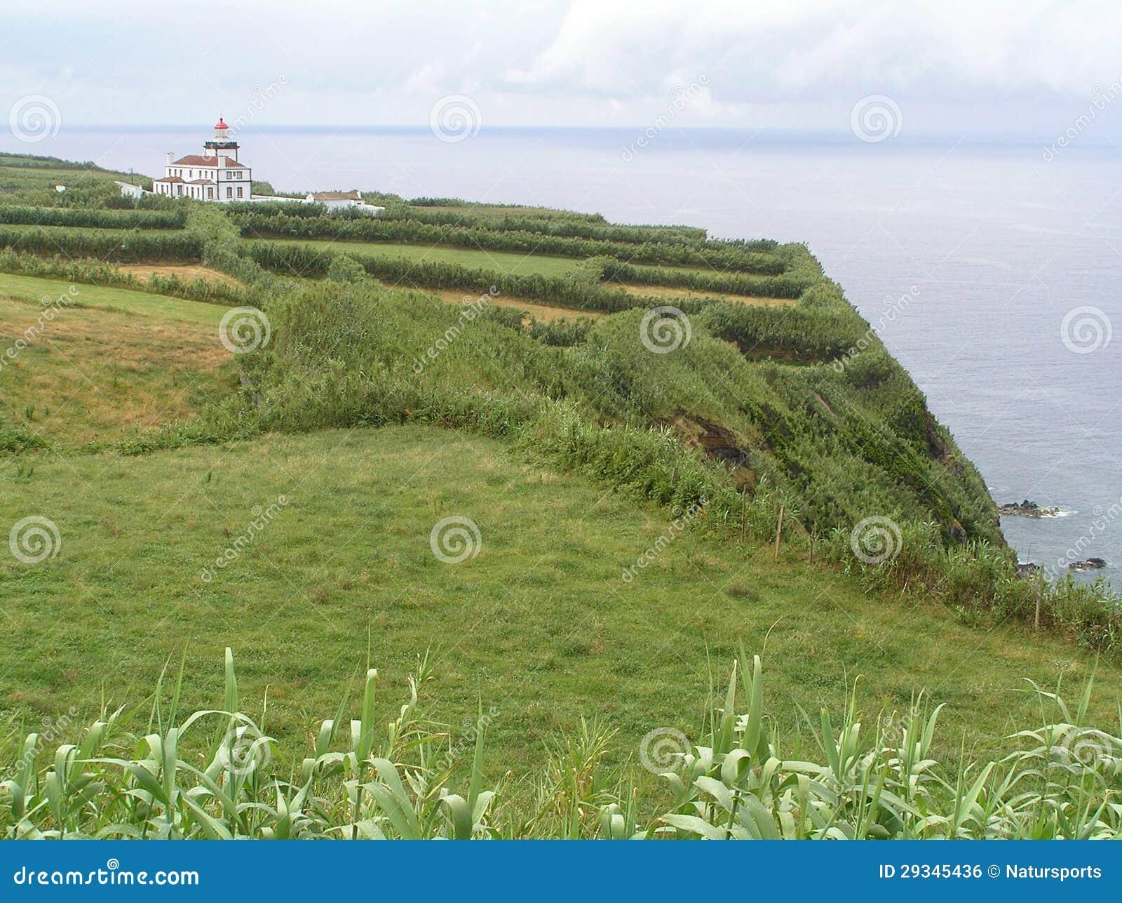 灯塔在亚速尔群岛