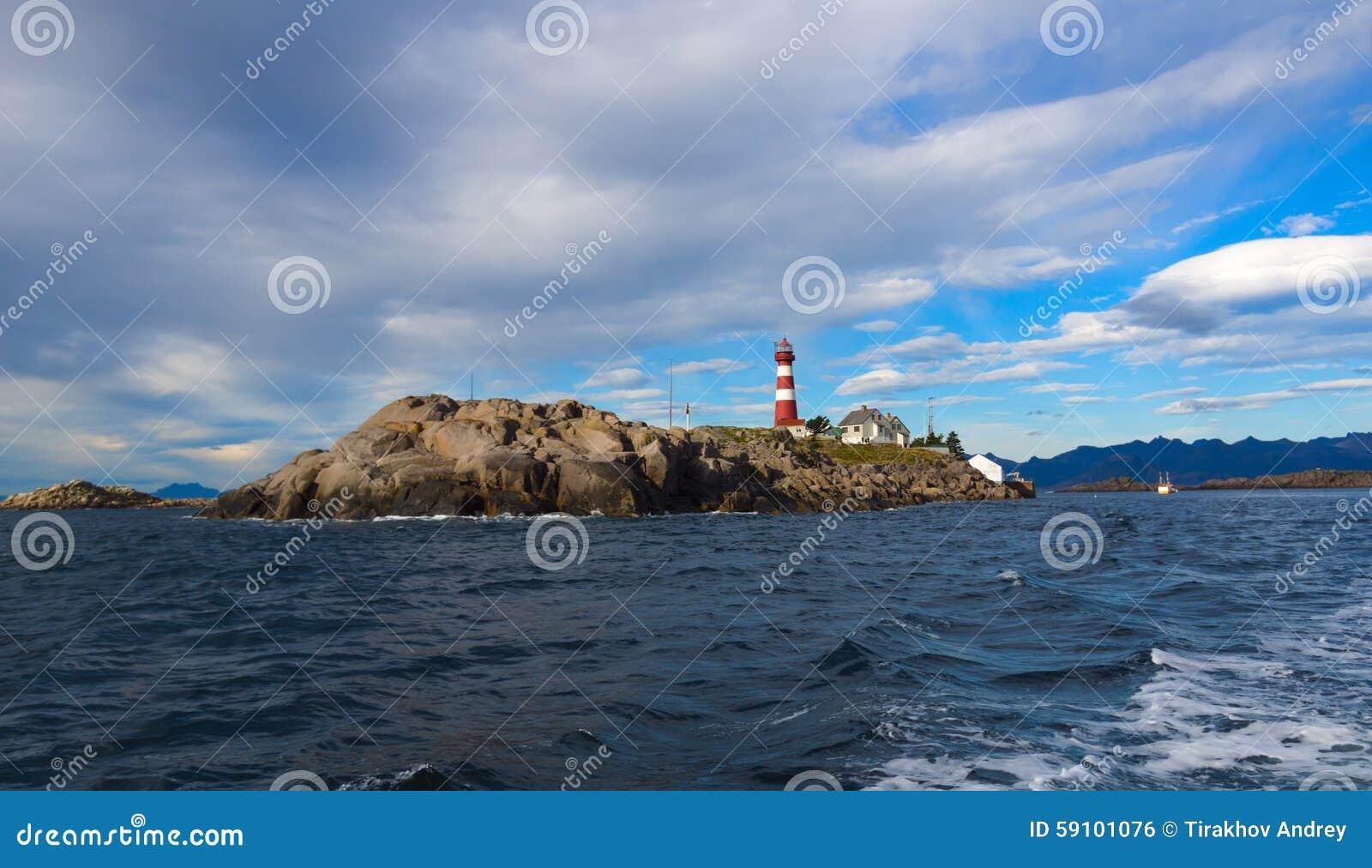 灯塔 挪威海岛Skrova