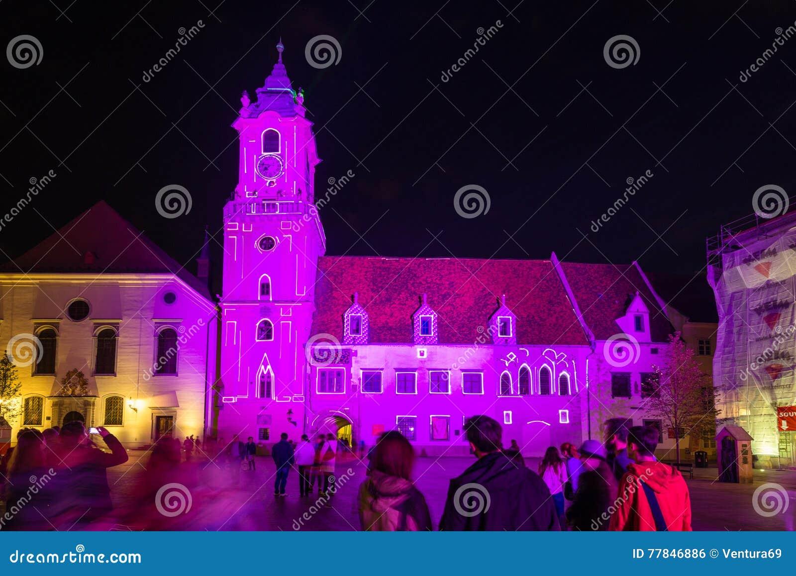 灯节在布拉索夫,斯洛伐克2016年