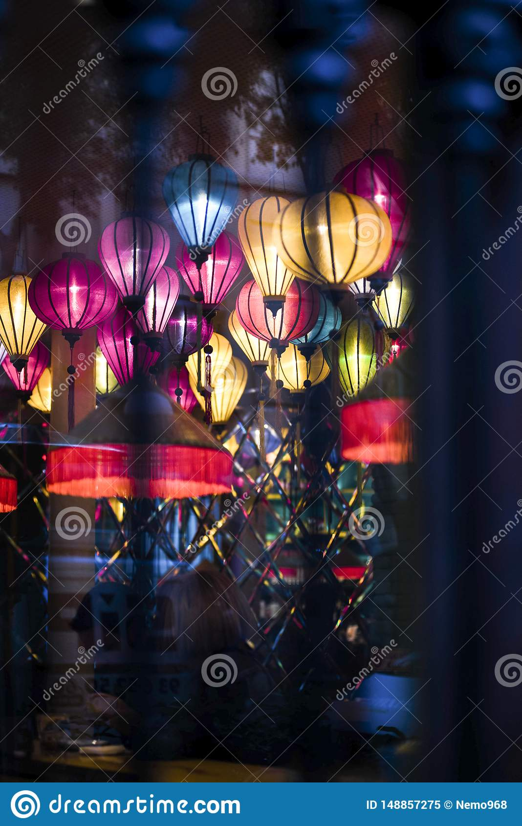 灯,在客栈里面的色的灯笼