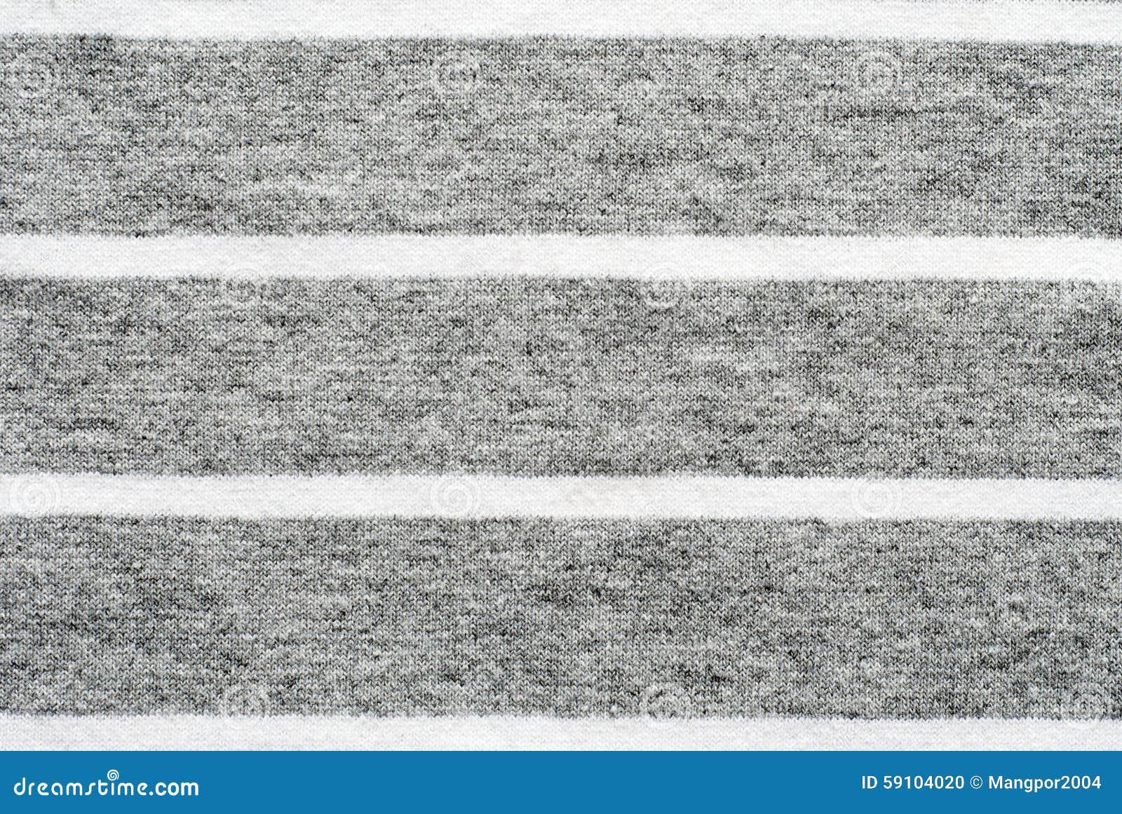 灰色和白色镶边棉花聚酯纹理