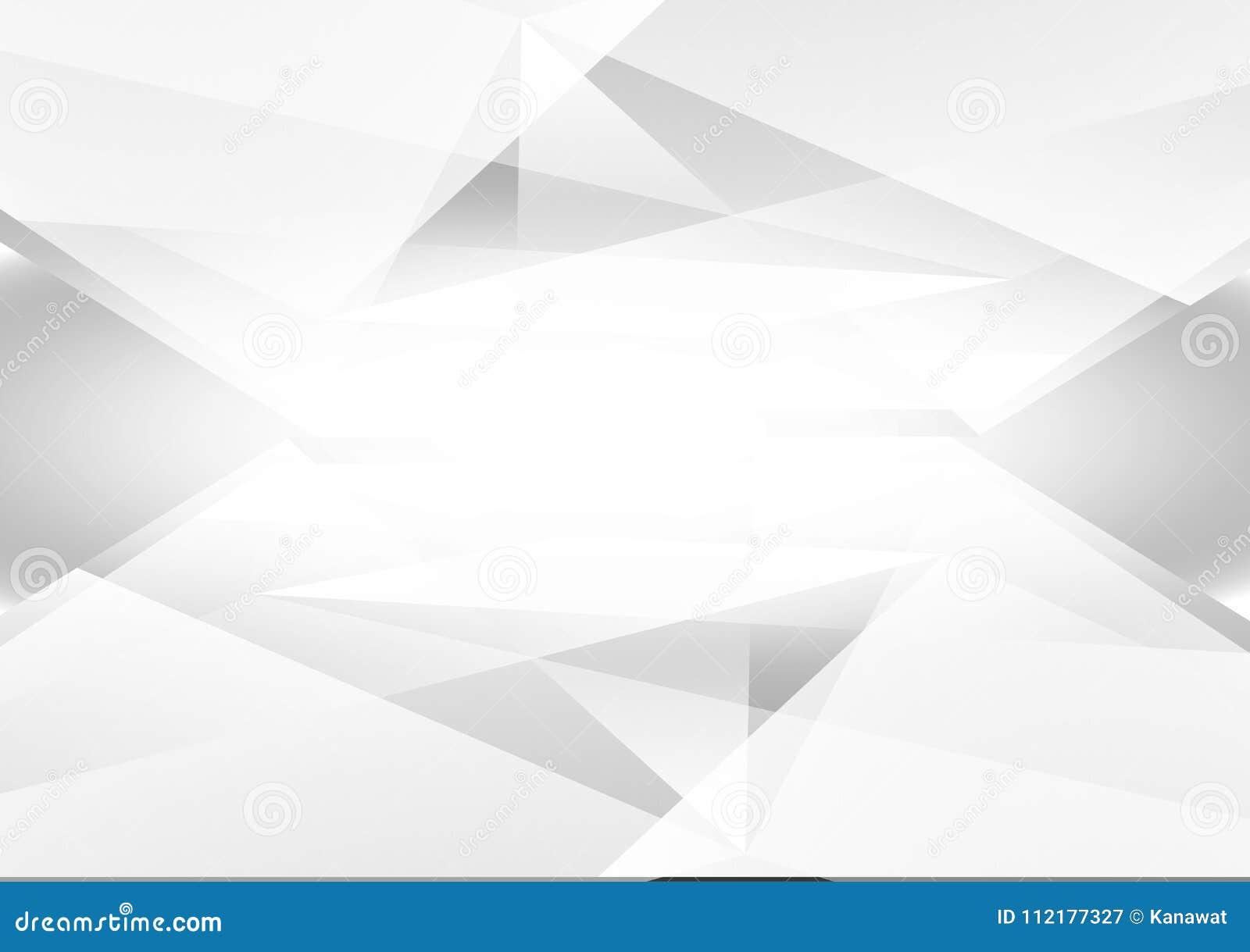 灰色和白色颜色摘要几何传染媒介背景和浅灰色,现代设计与拷贝空间