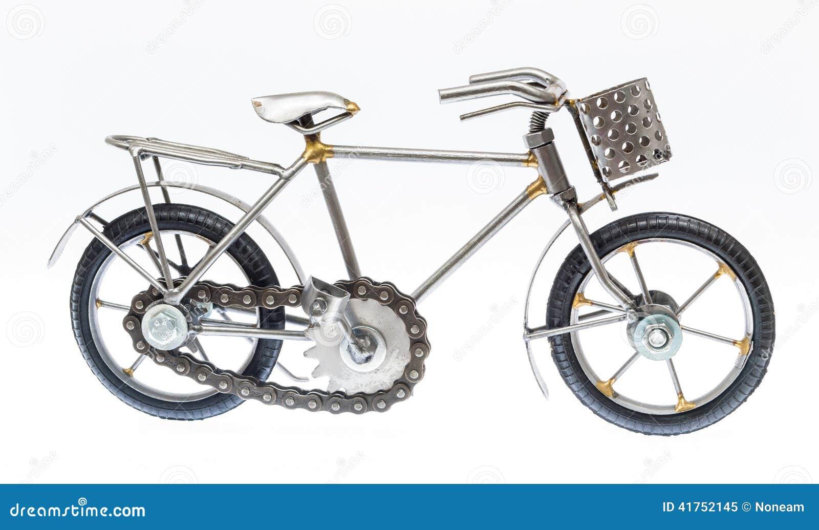 灰色手工制造自行车形象,被隔绝.