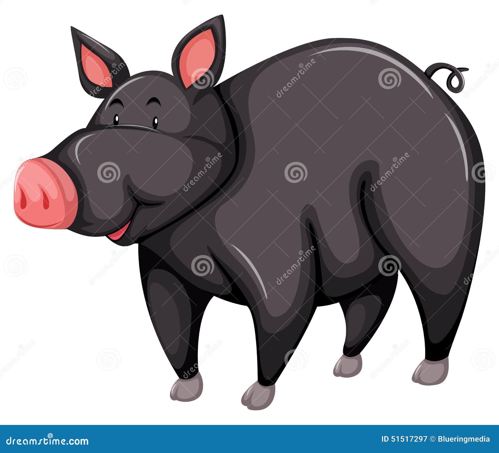 屁屁猪主题_灰色猪