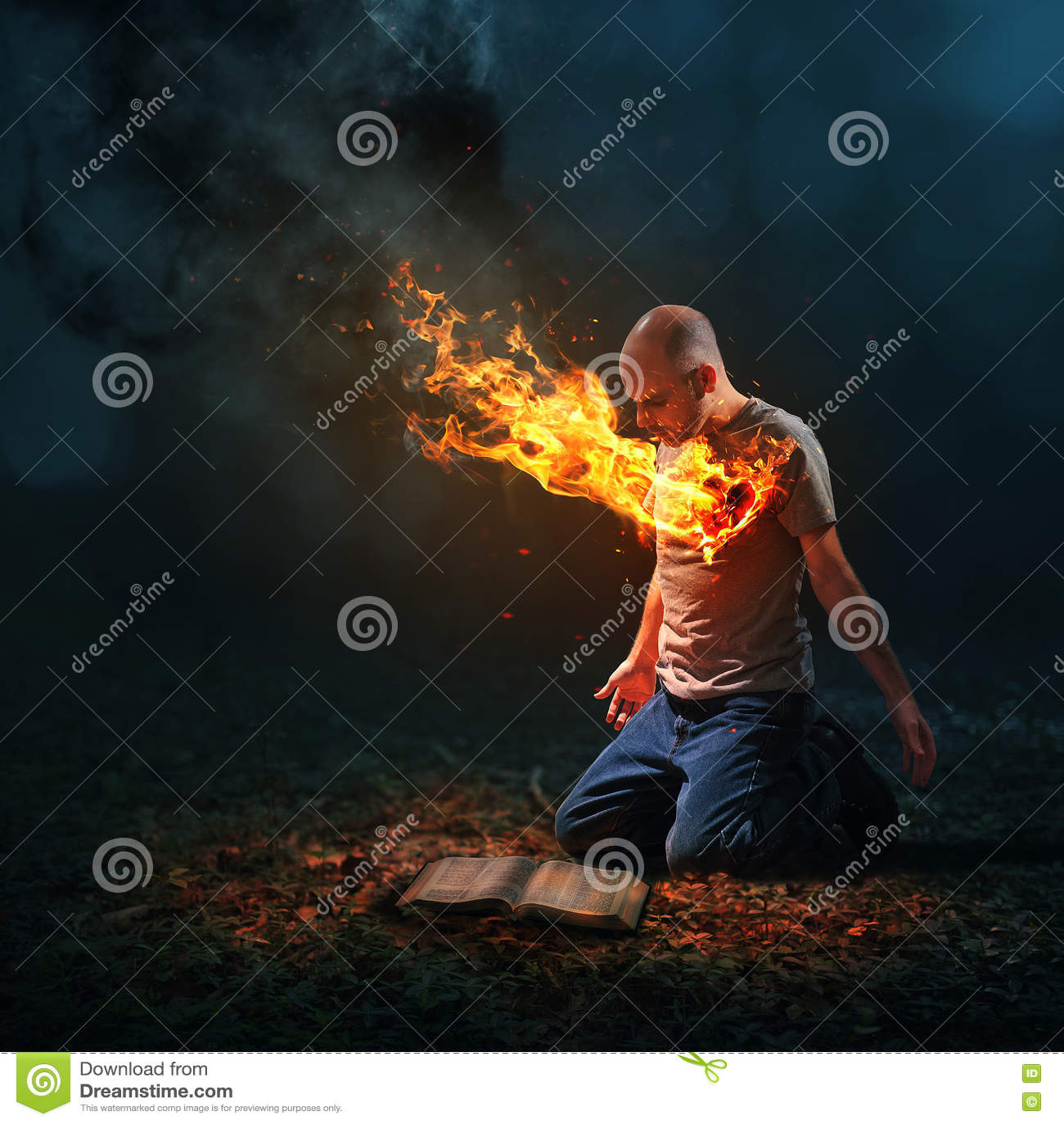 灼烧的心脏和圣经