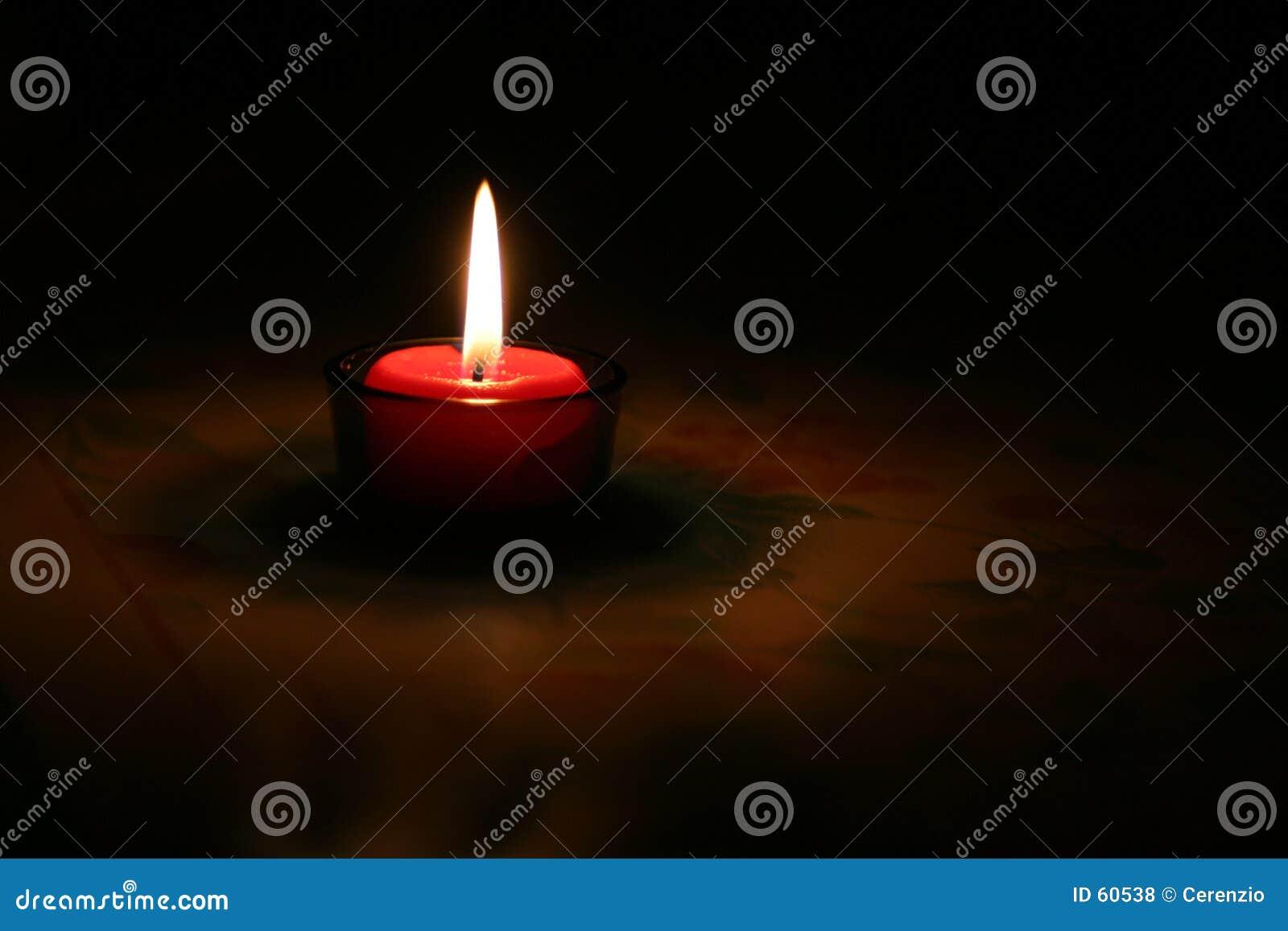 灼烧的蜡烛红色