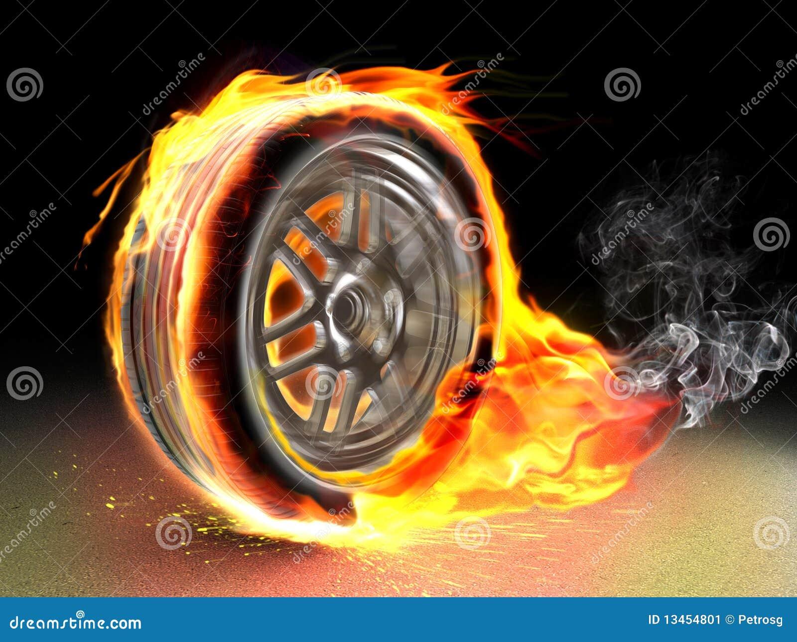 灼烧的轮子