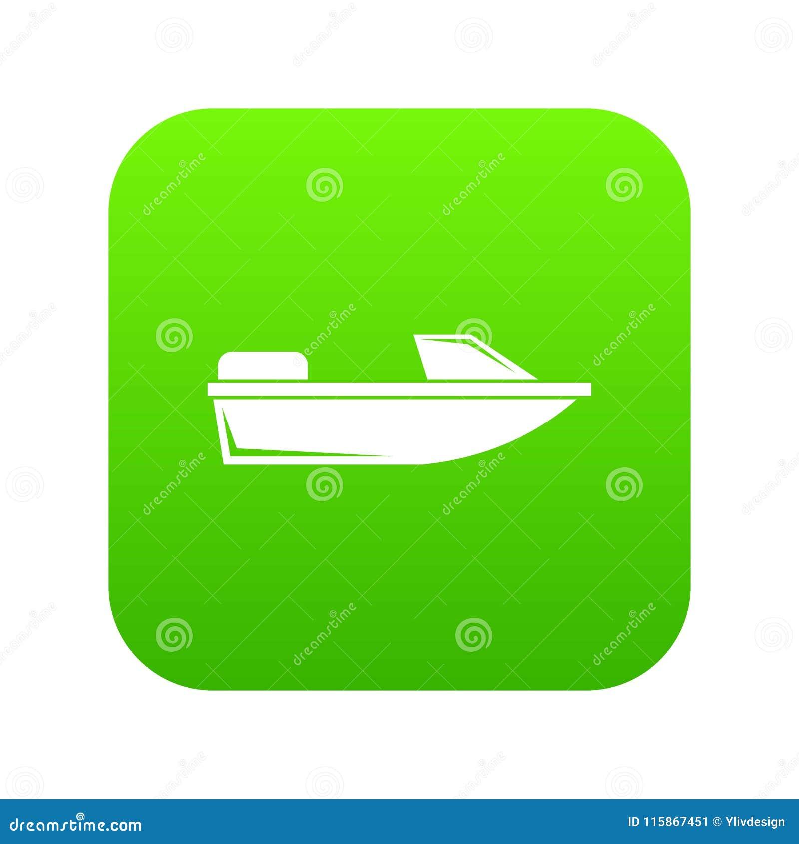 炫耀快速汽艇象数字式绿色