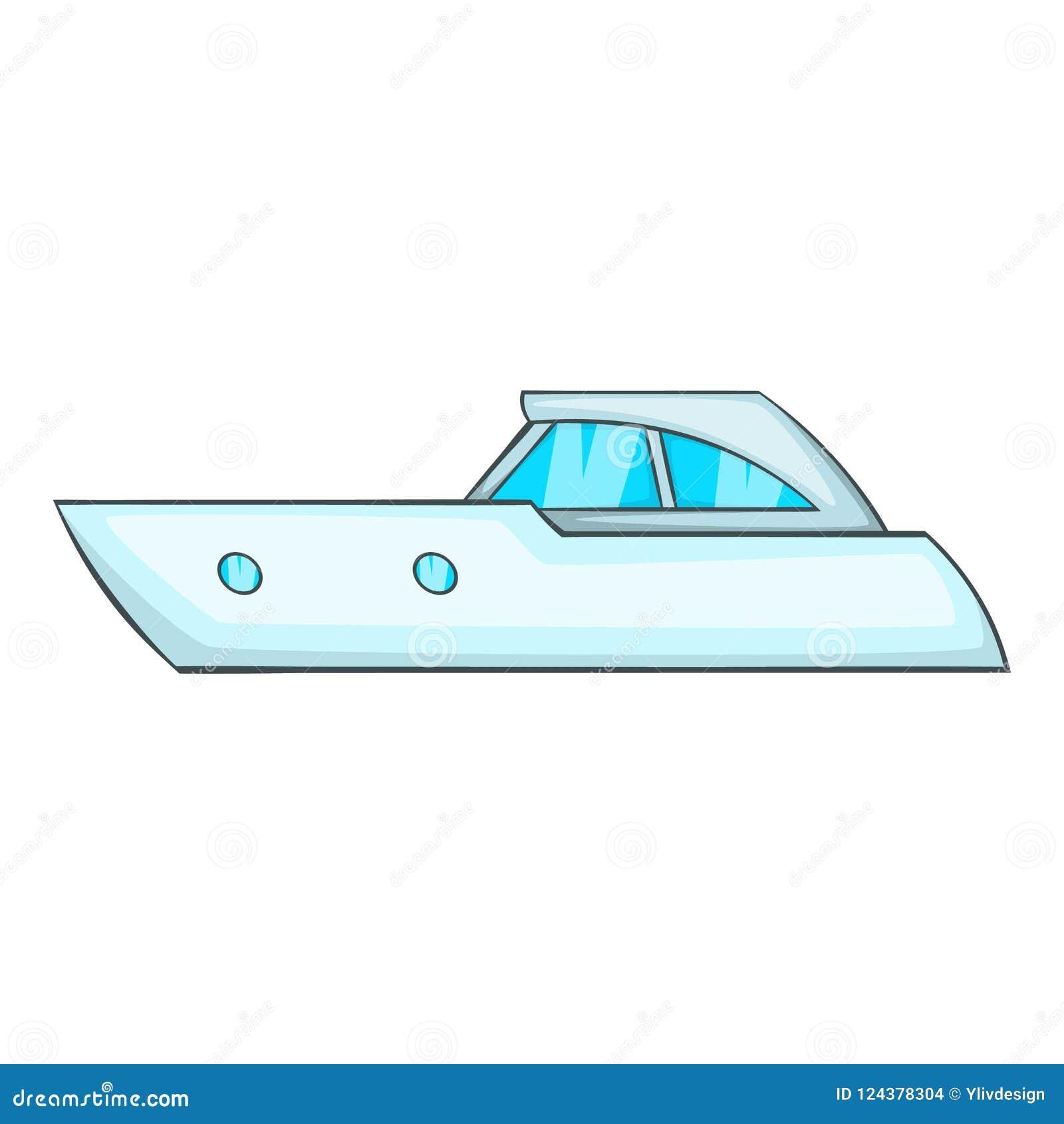 炫耀快速汽艇象,动画片样式