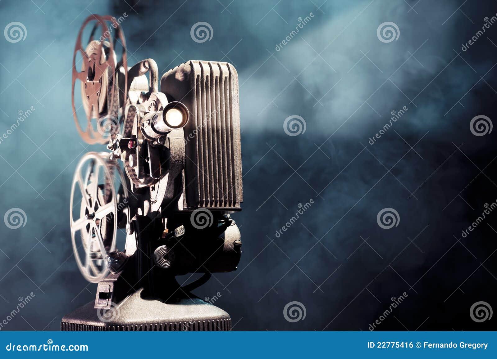 点燃老放映机的严重的影片