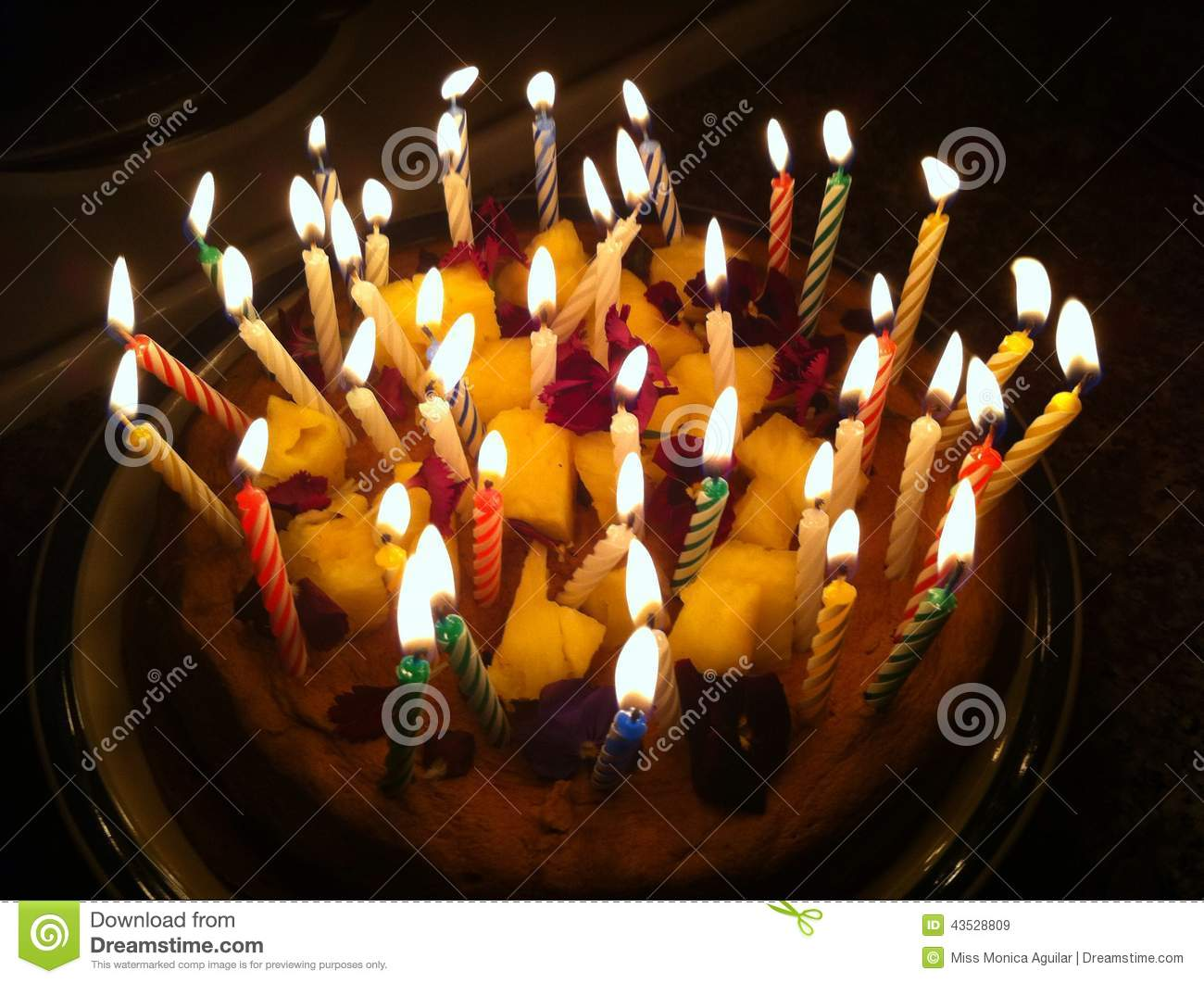 Birthday Cake With Lots Of Candles Images