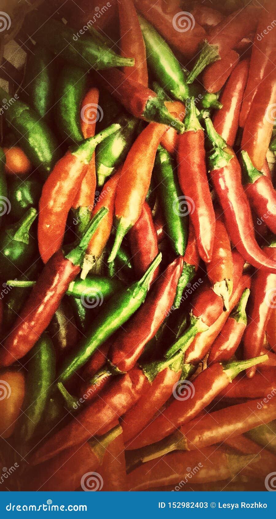 炽热冷颤的胡椒