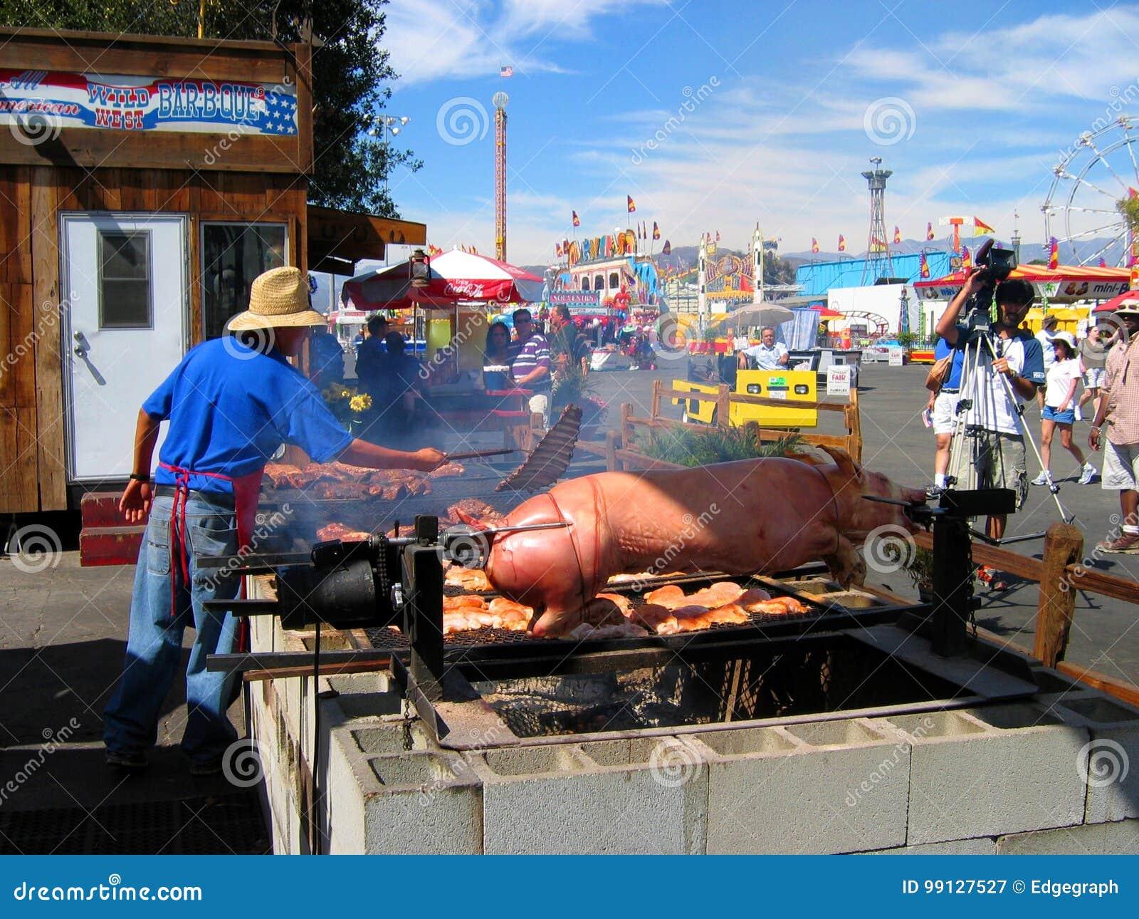 烘烤猪,公平的洛杉矶郡, Fairplex,波诺马,加利福尼亚
