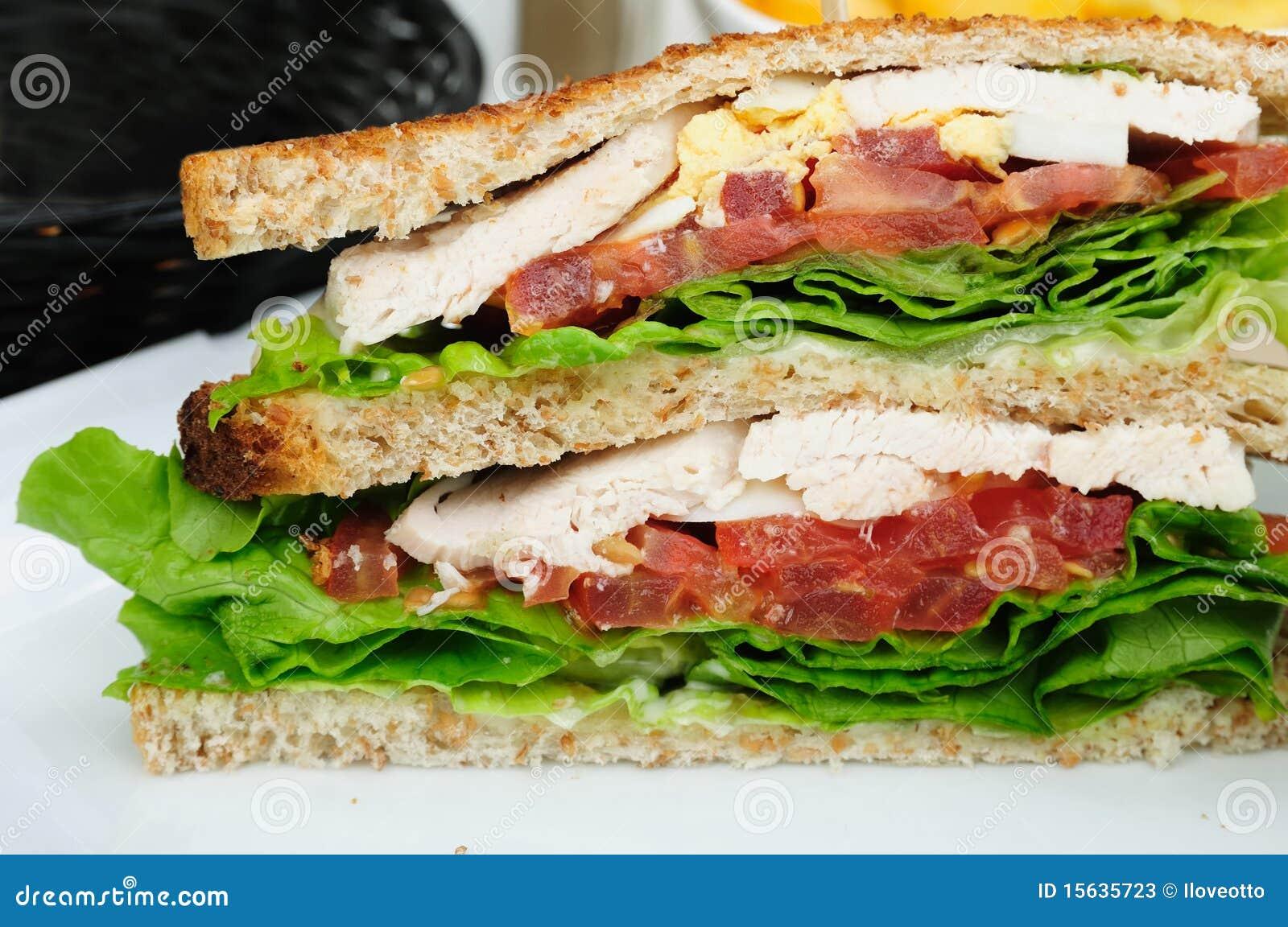 烟肉三明治