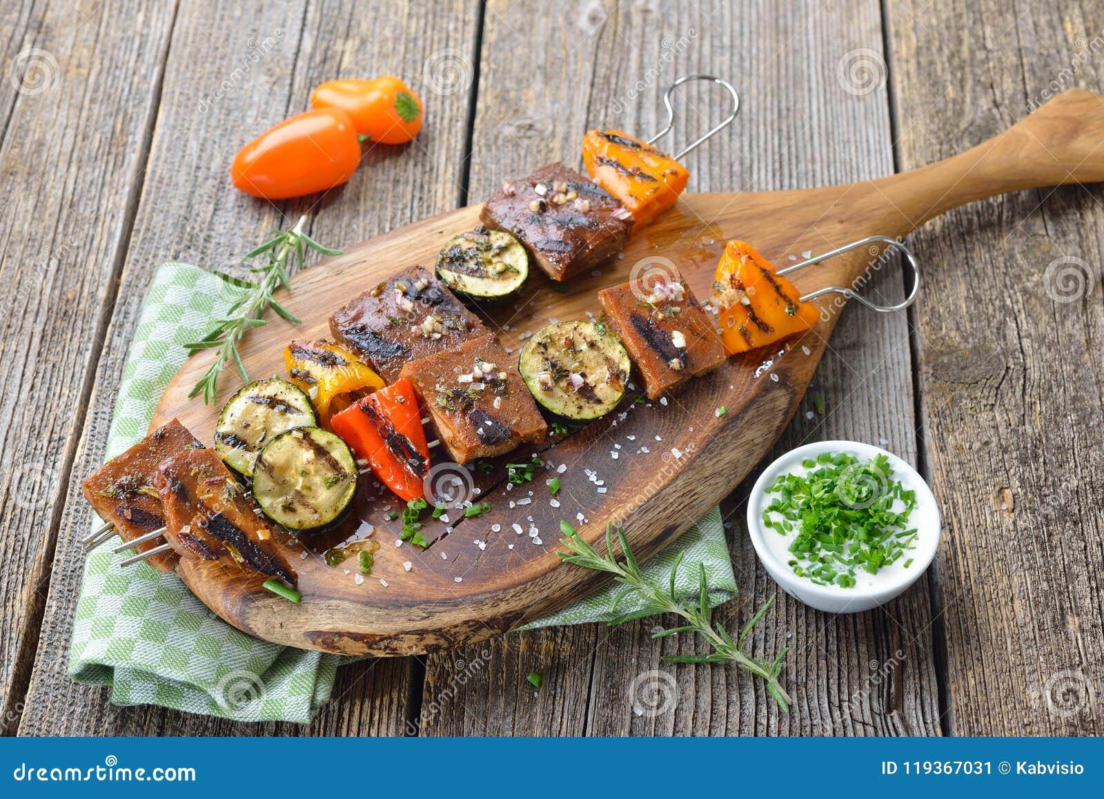 烤seitan与菜