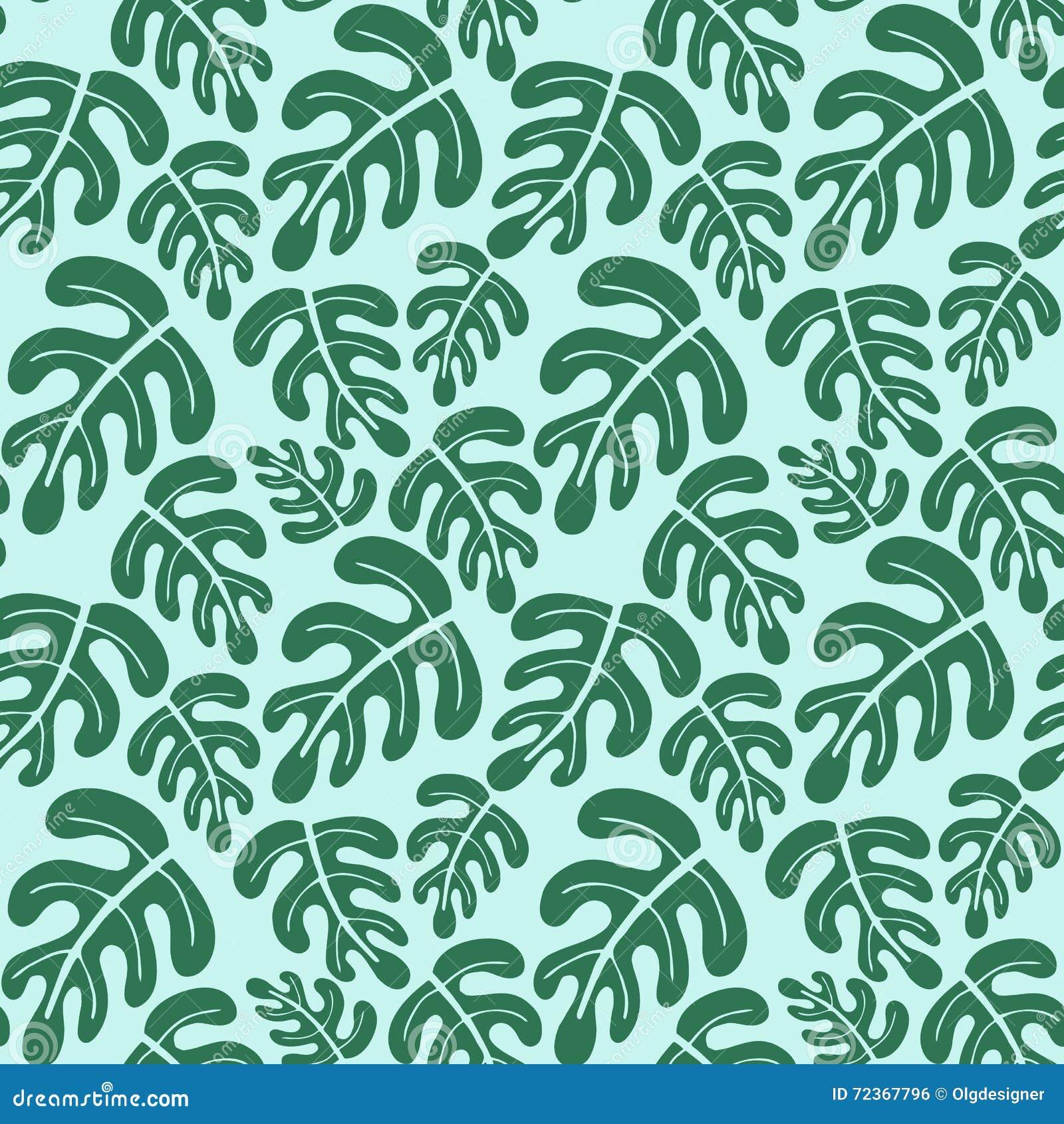 热带叶子无缝的样式