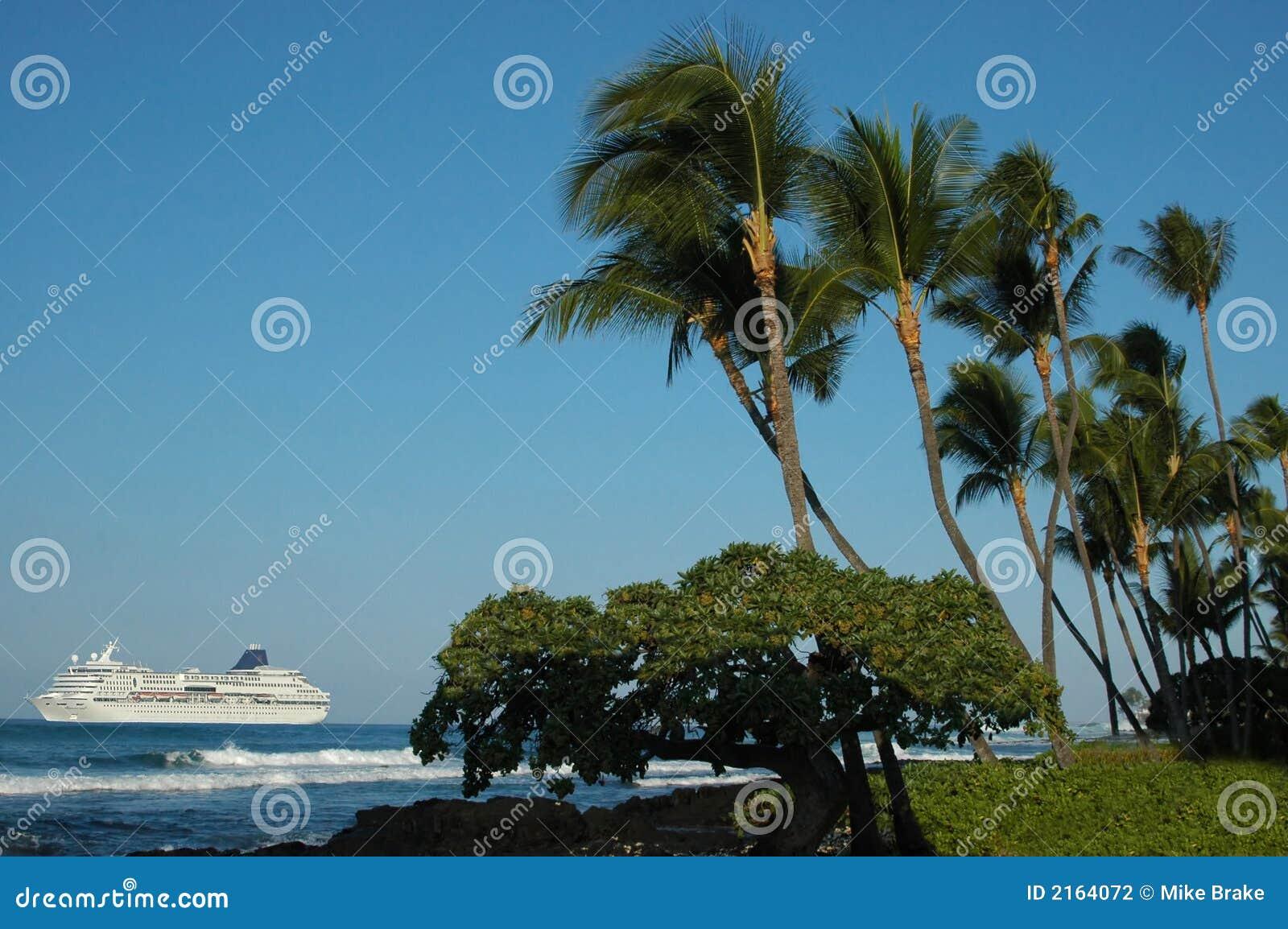 热带巡航夏威夷的船