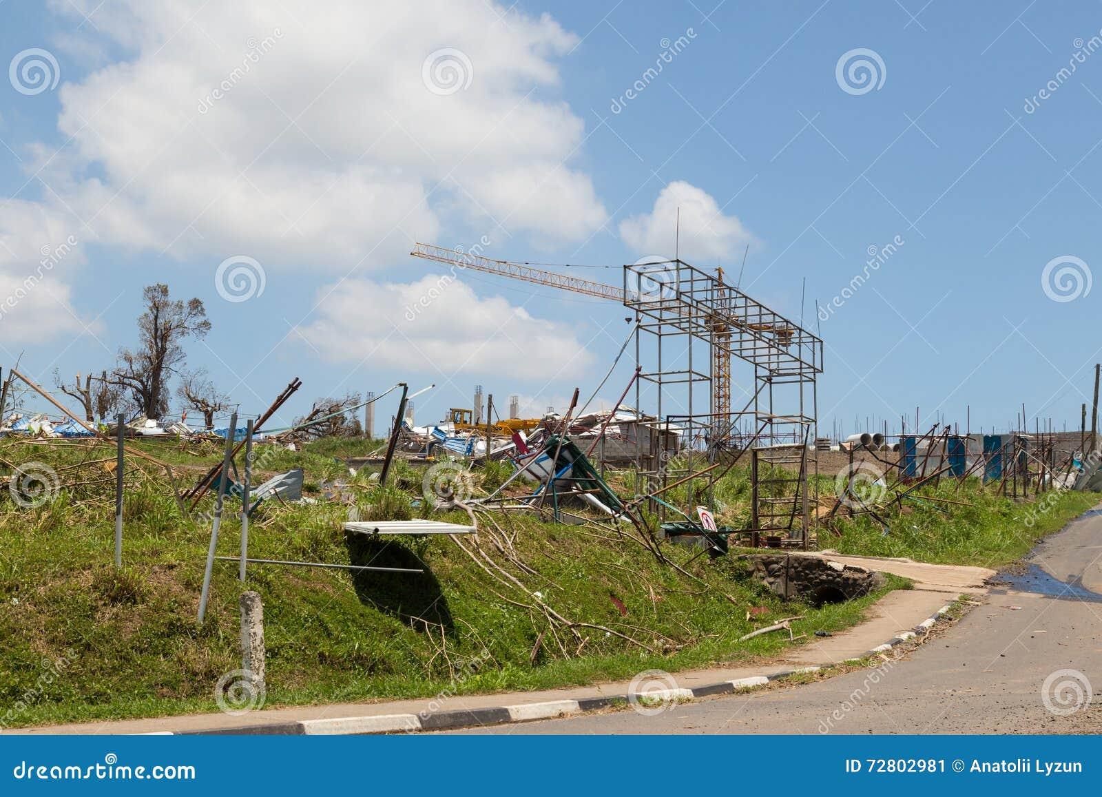 热带气旋造成的破坏温斯顿 斐济