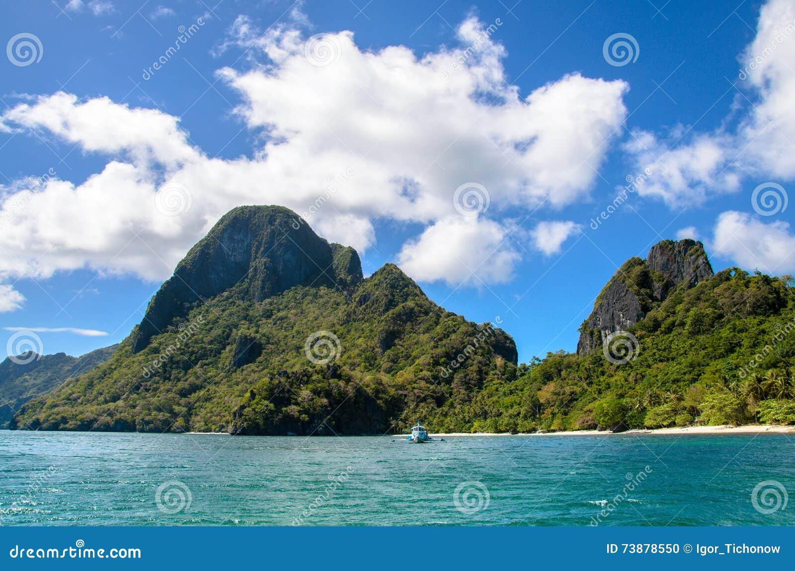 热带海岛风景, El, Nido,巴拉望岛,菲律宾,东南亚