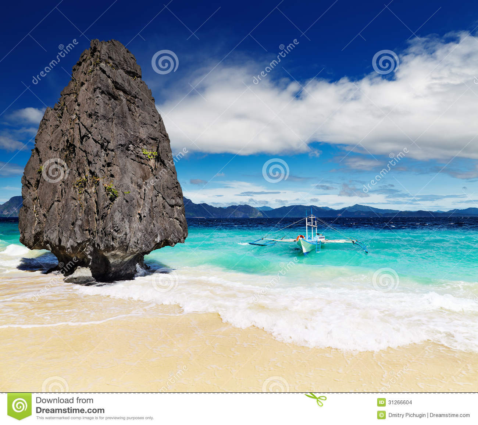 热带海滩, El Nido,菲律宾