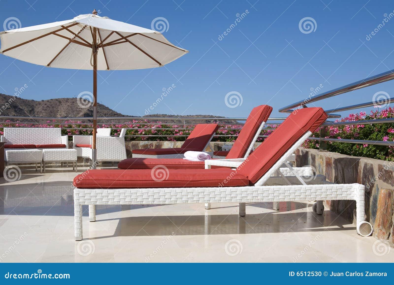 热带豪华的大阳台