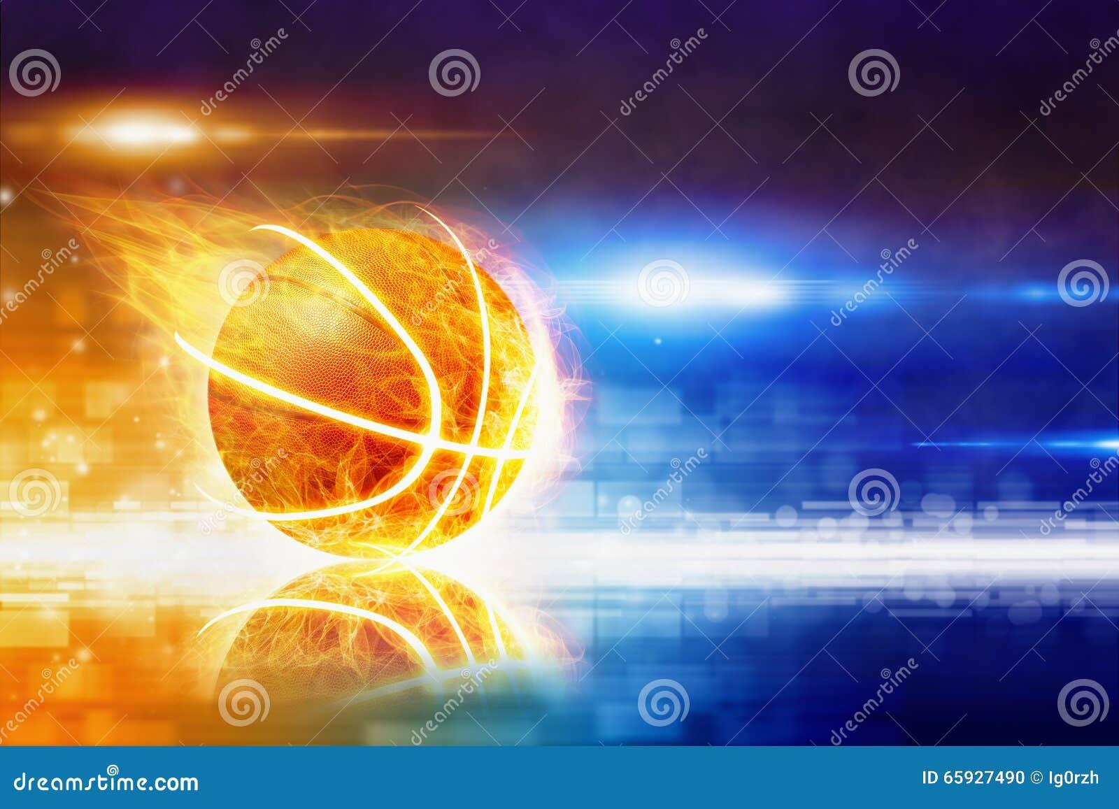 热的灼烧的篮球