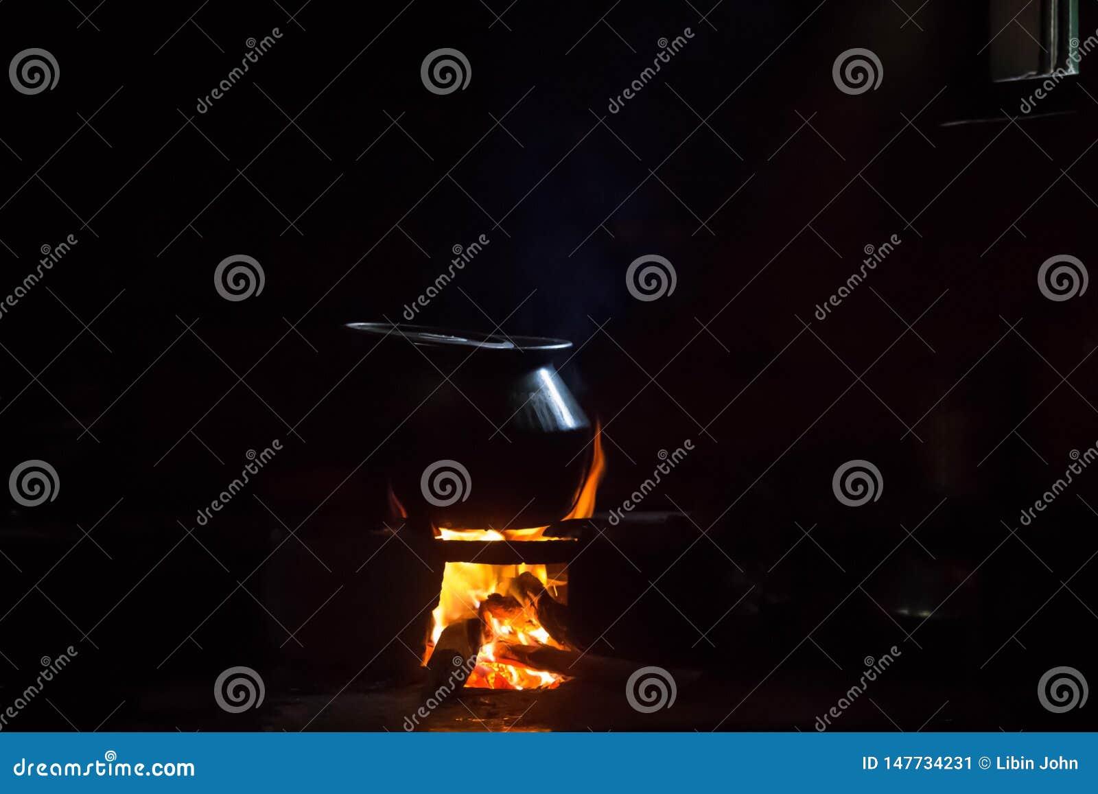 烹调与木柴