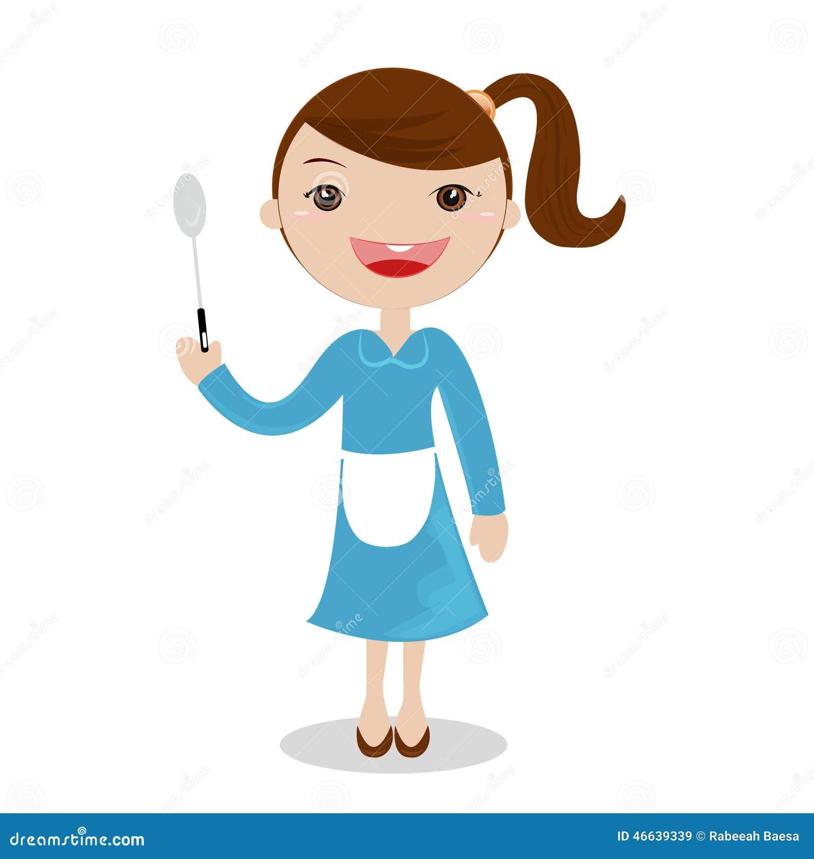 烹调在厨房里的一个小女孩图片