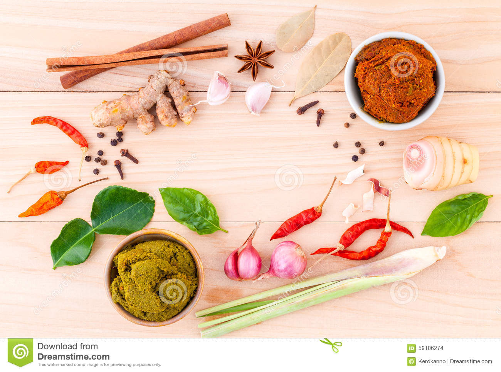 烹调成份和浆糊泰国的泰国食物的分类