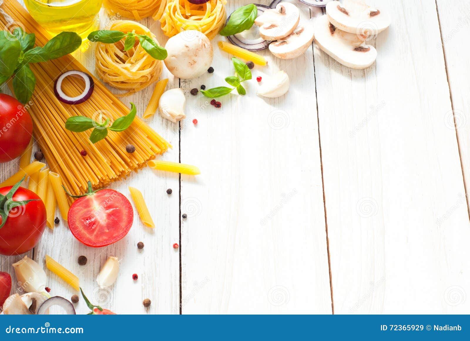 烹调的意大利面团成份