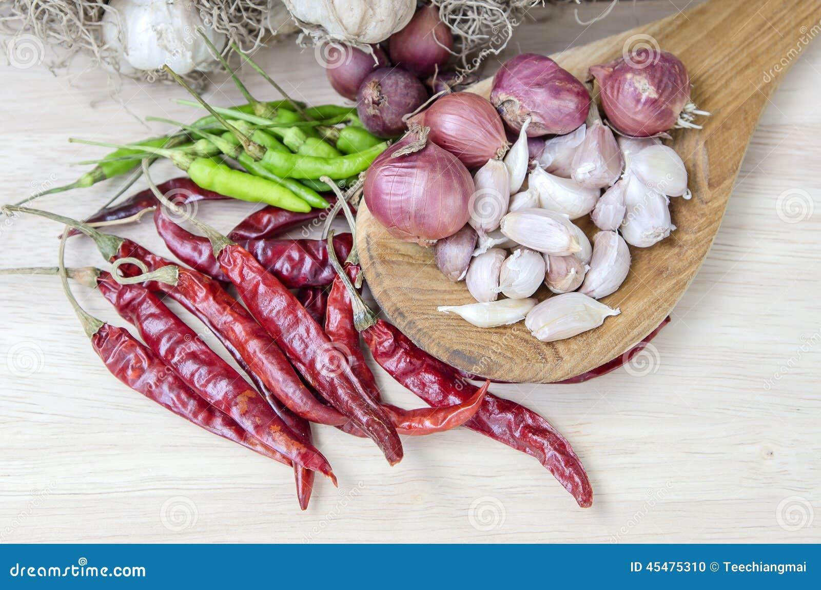 烹调的香料吃胡椒食物大蒜