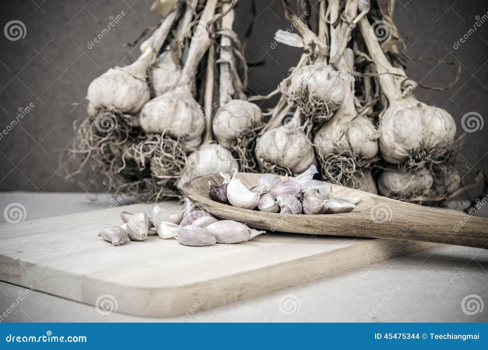 烹调的香料吃食物大蒜