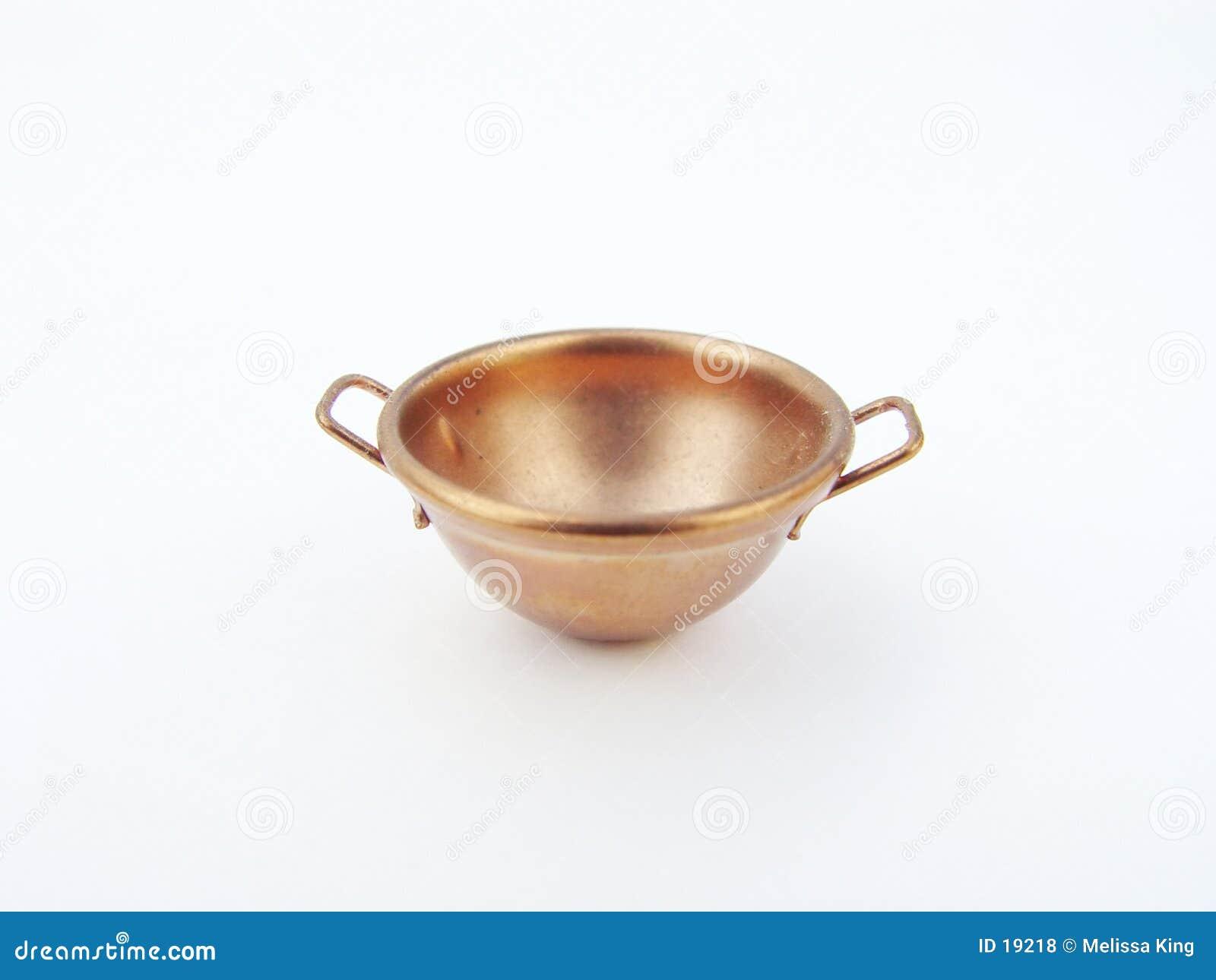 烹调铜的碗