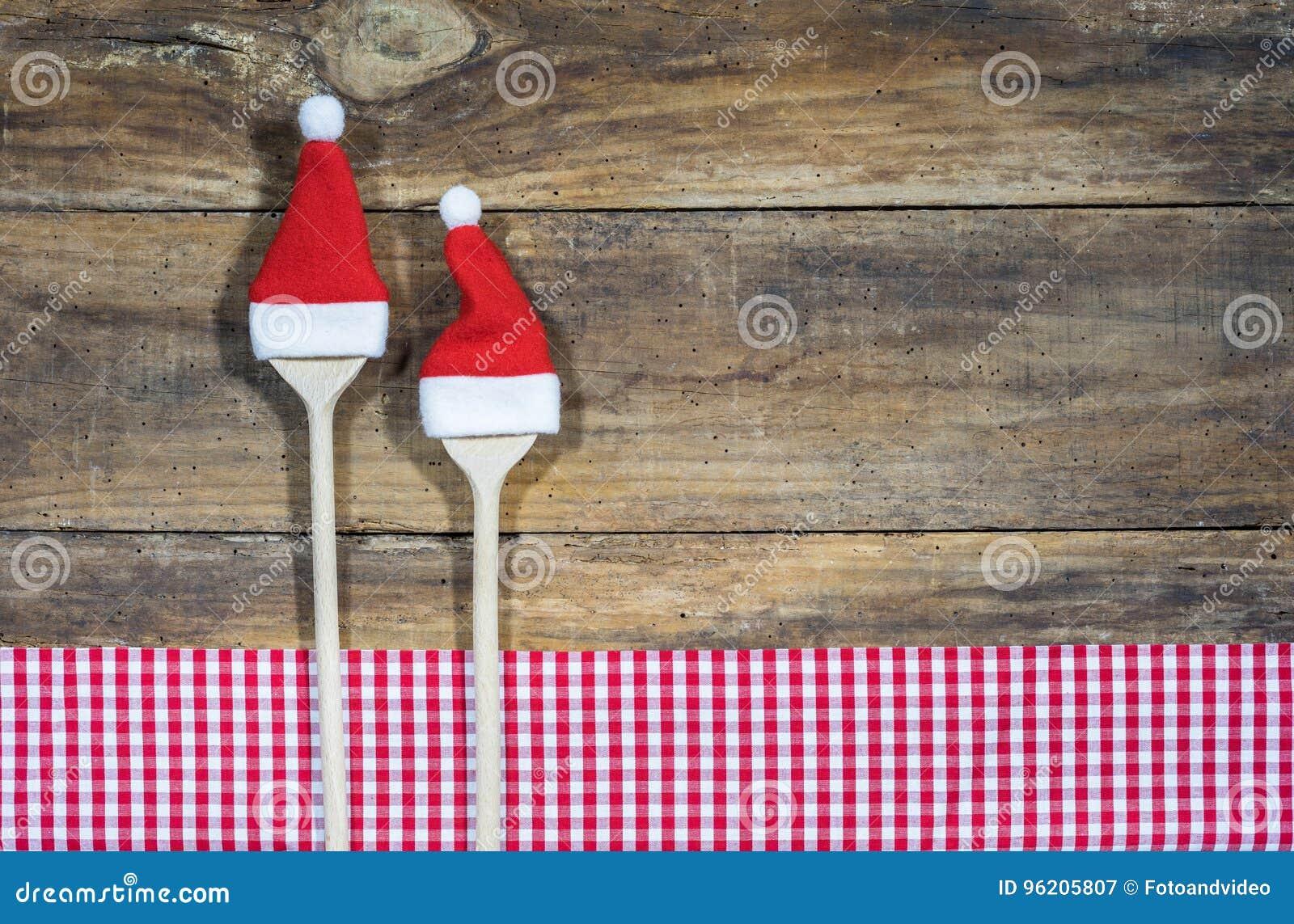 烹调食谱的圣诞节食物的背景